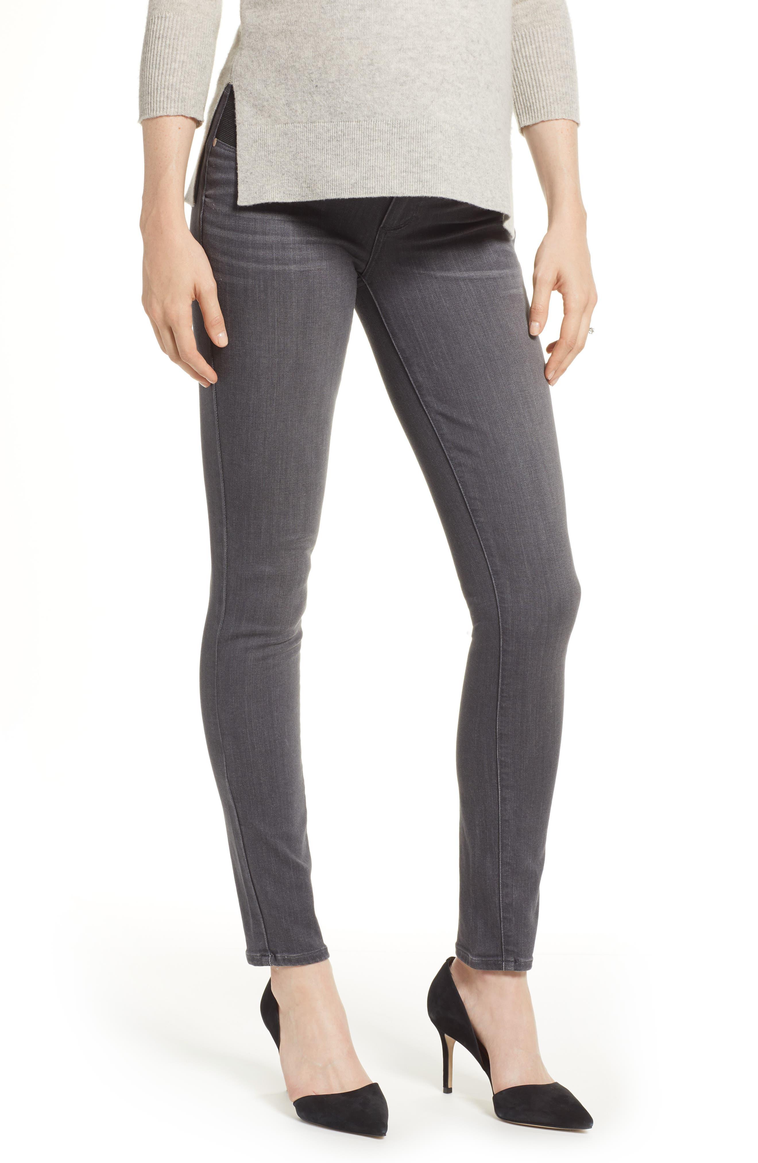 Transcend - Verdugo Maternity Skinny Jeans,                         Main,                         color, GREY PEAKS