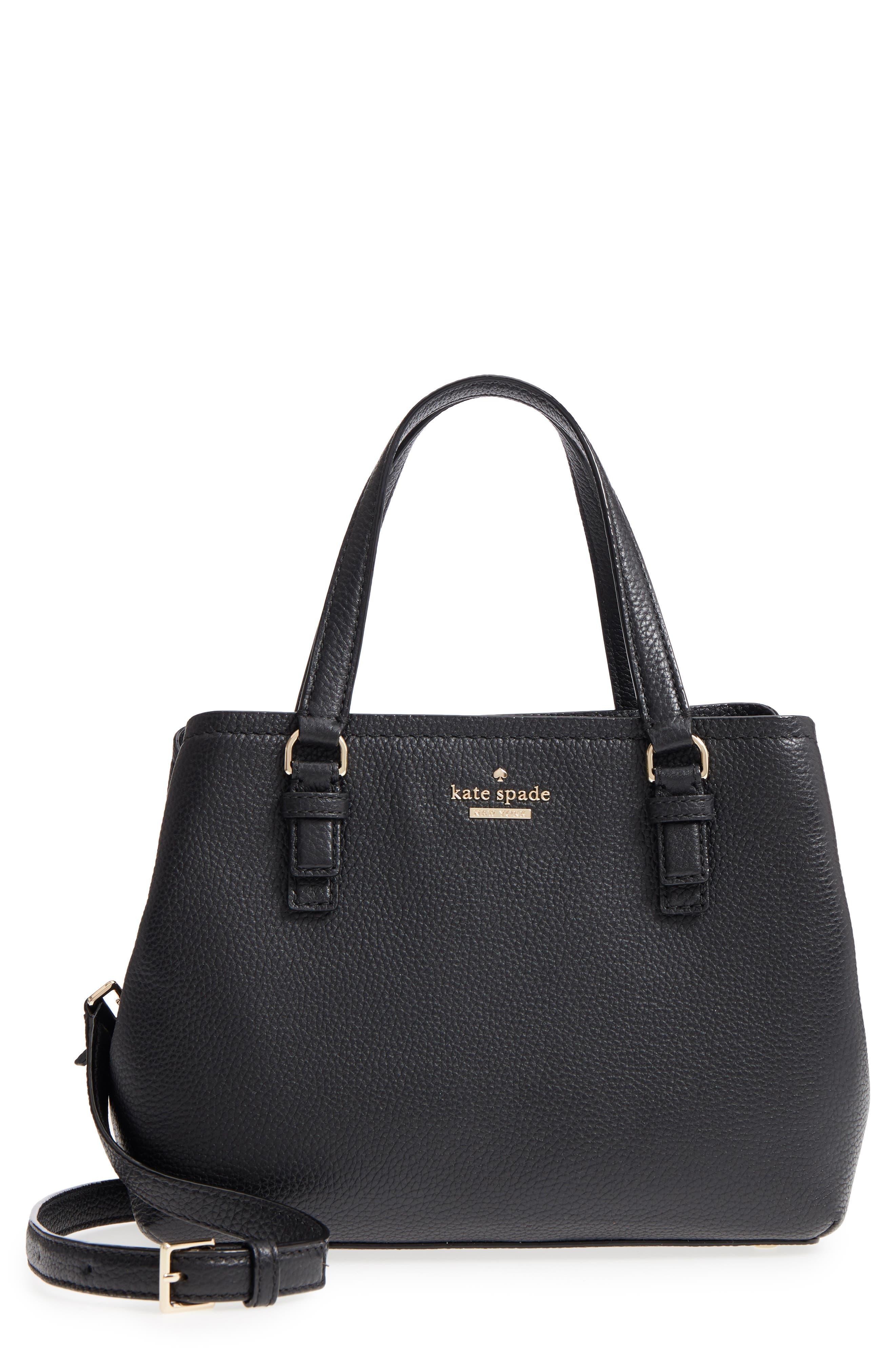 jackson street – small octavia leather satchel,                         Main,                         color, 001