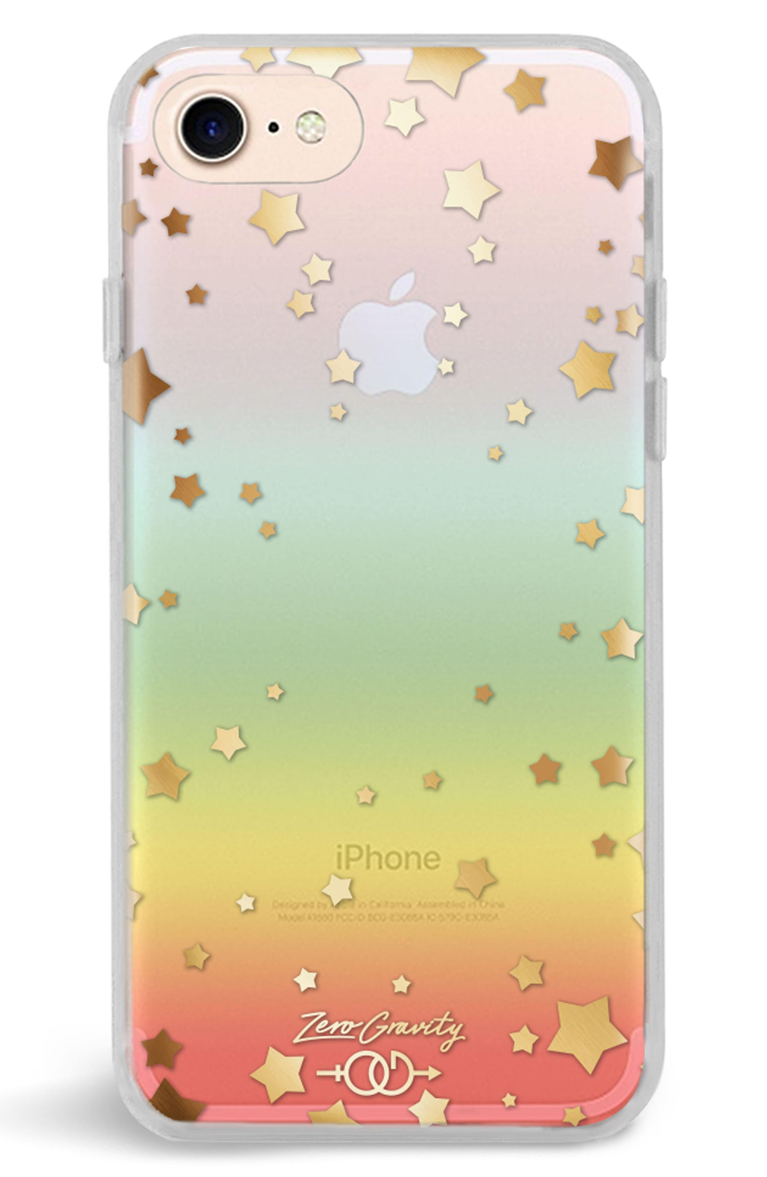 Infinity iPhone 7/8 & 7/8 Plus Case,                             Main thumbnail 1, color,                             CLEAR RAINBOW