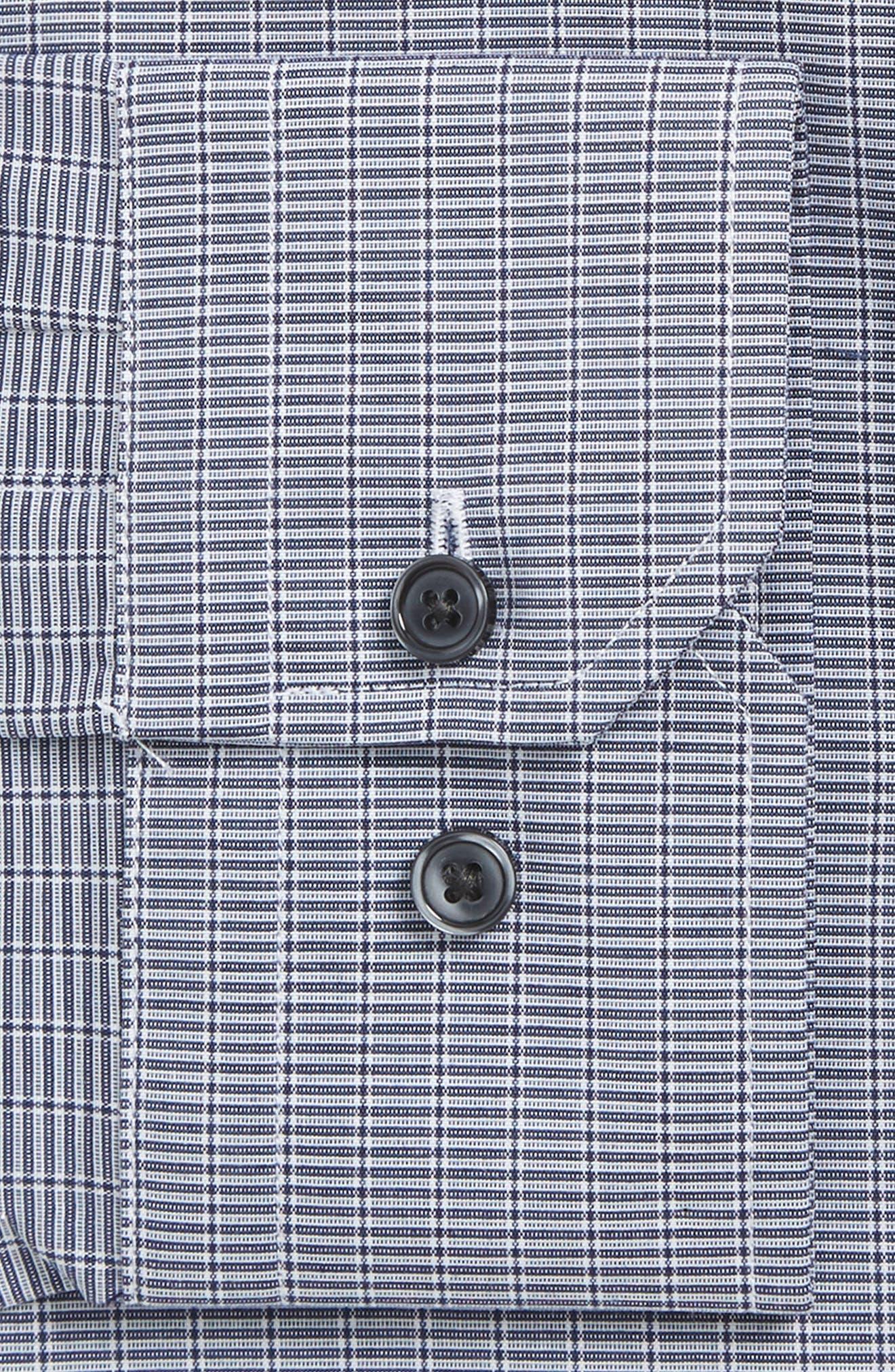Trim Fit Non-Iron Dress Shirt,                             Alternate thumbnail 4, color,                             421