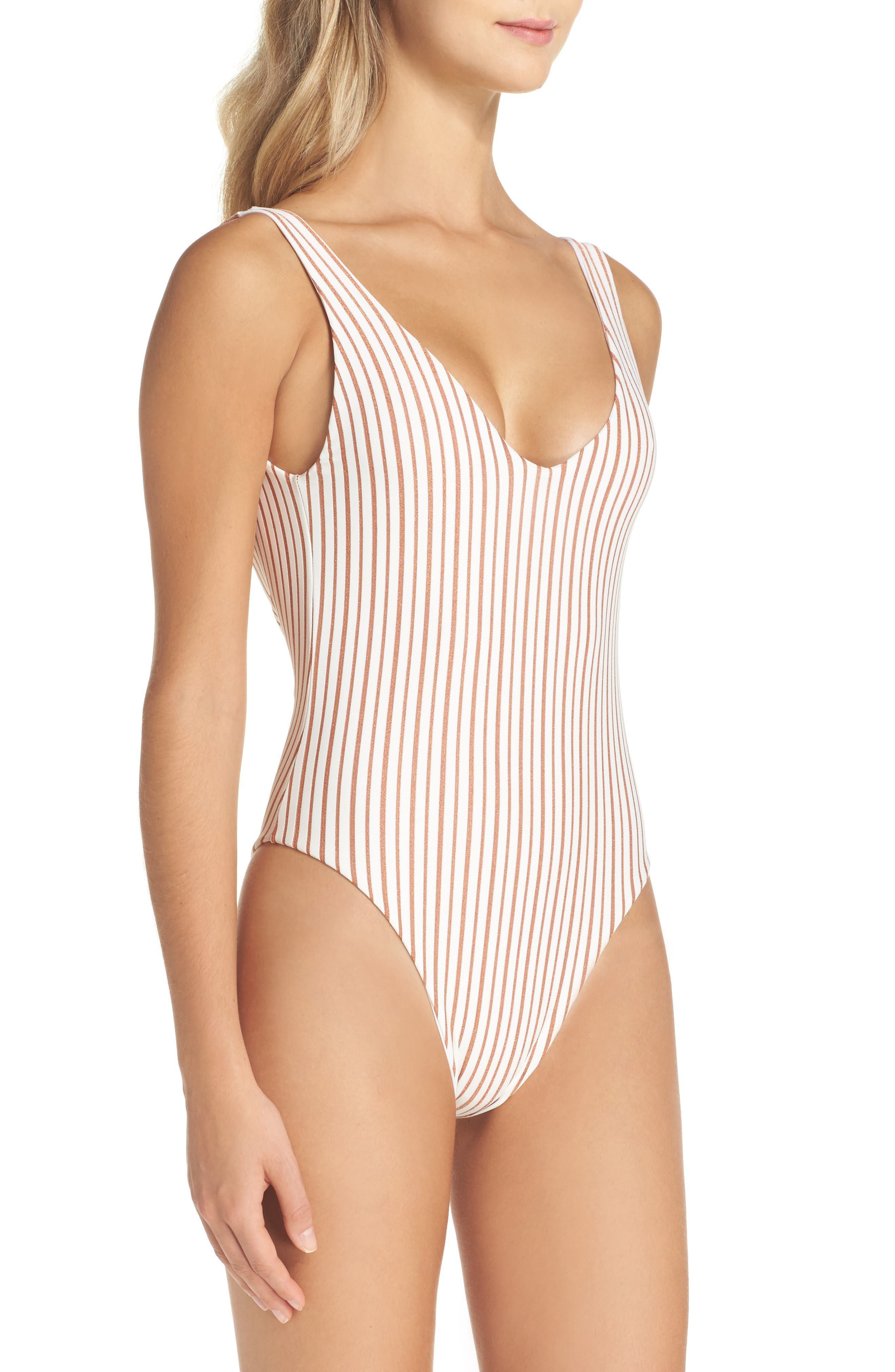 Arizona Reversible One-Piece Swimsuit,                             Alternate thumbnail 4, color,                             100