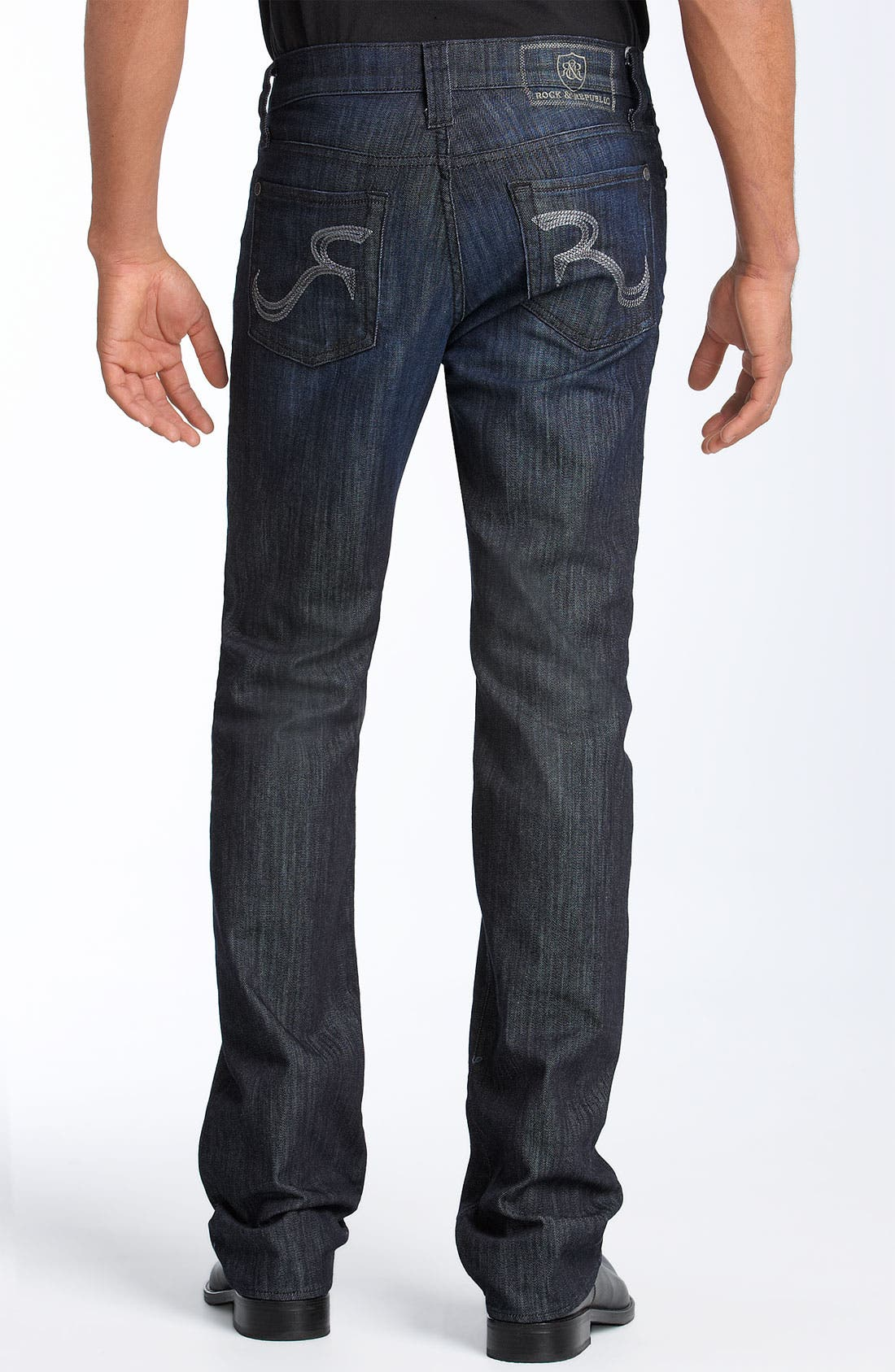 ROCK & REPUBLIC,                             'Neil' Relaxed Straight Leg Jeans,                             Main thumbnail 1, color,                             490