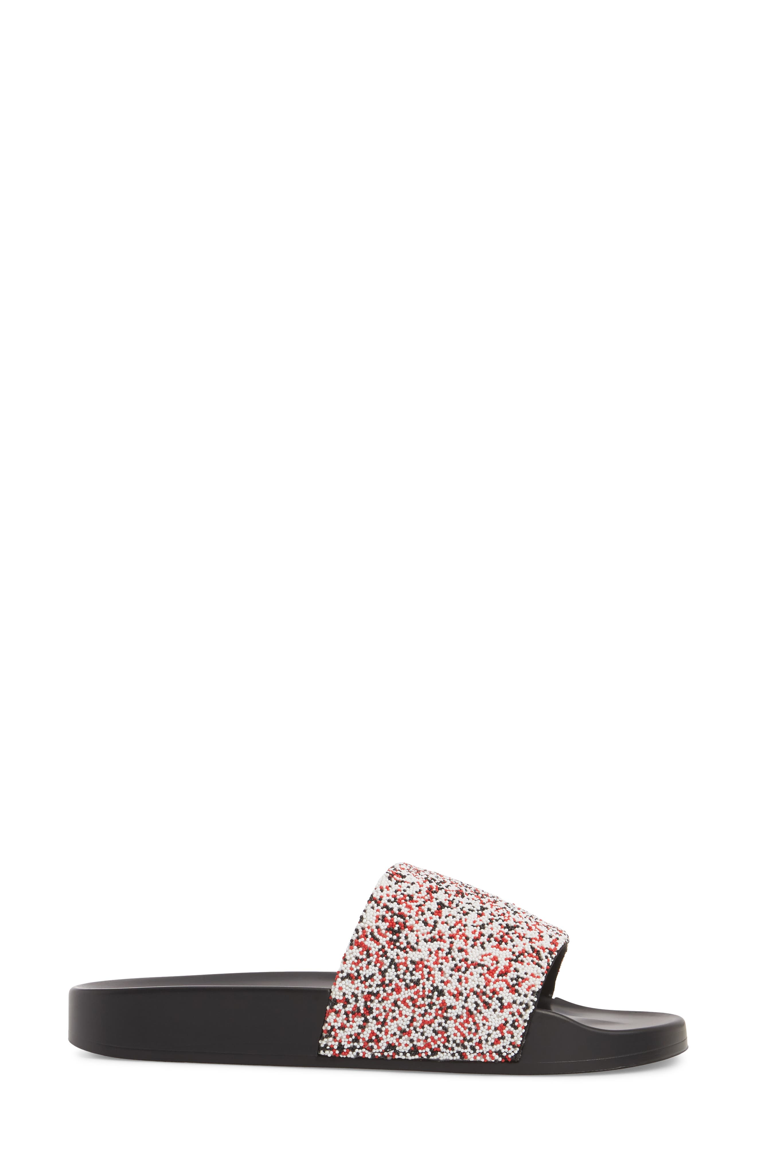 The Jimmi Slide Sandal,                             Alternate thumbnail 3, color,                             RED MULTI