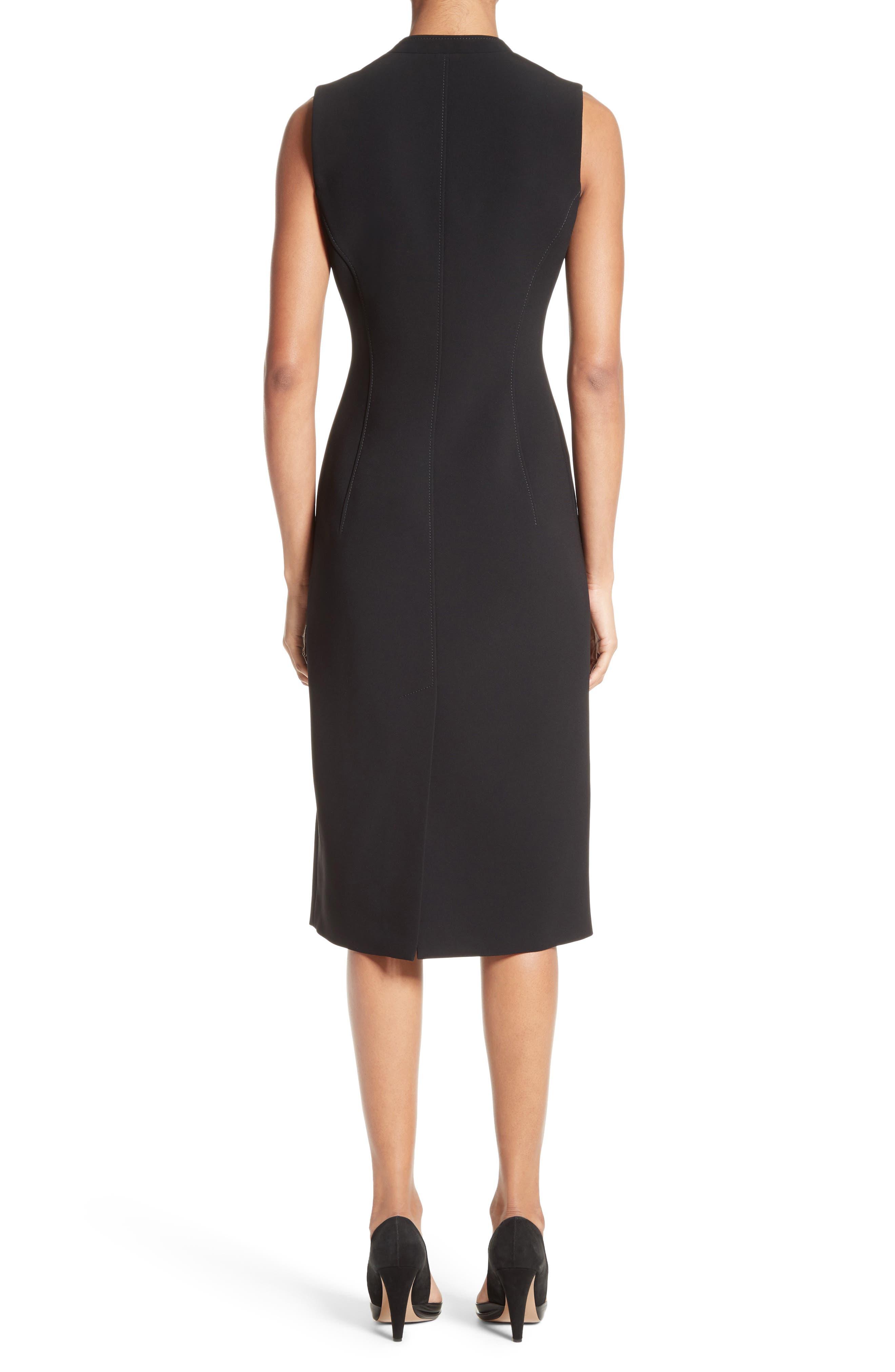 Lucretia Button & Zip Detail Dress,                             Alternate thumbnail 2, color,                             001