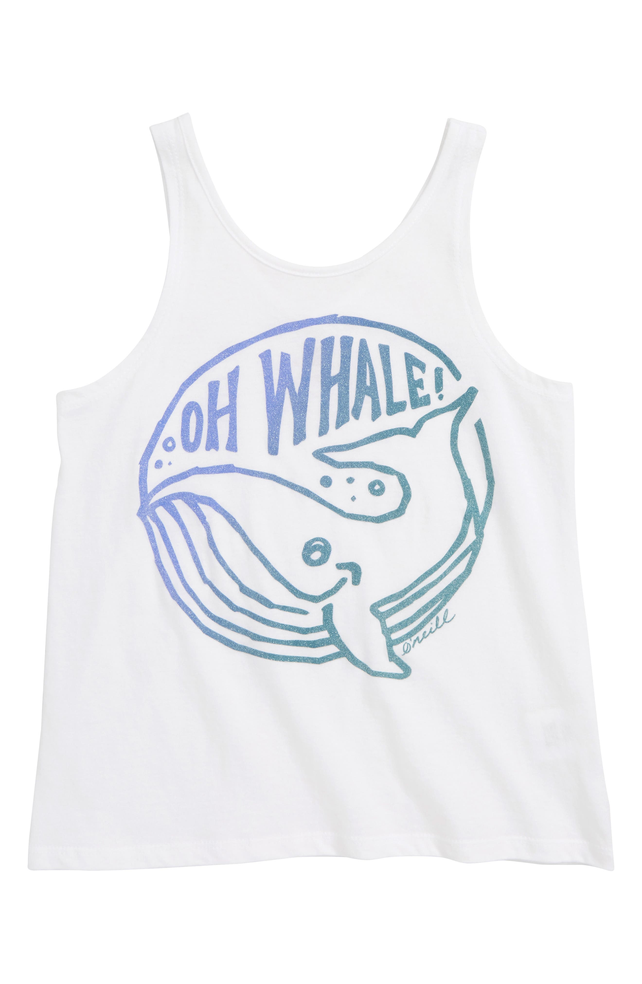 Oh Whale Graphic Tank,                         Main,                         color, WHITE