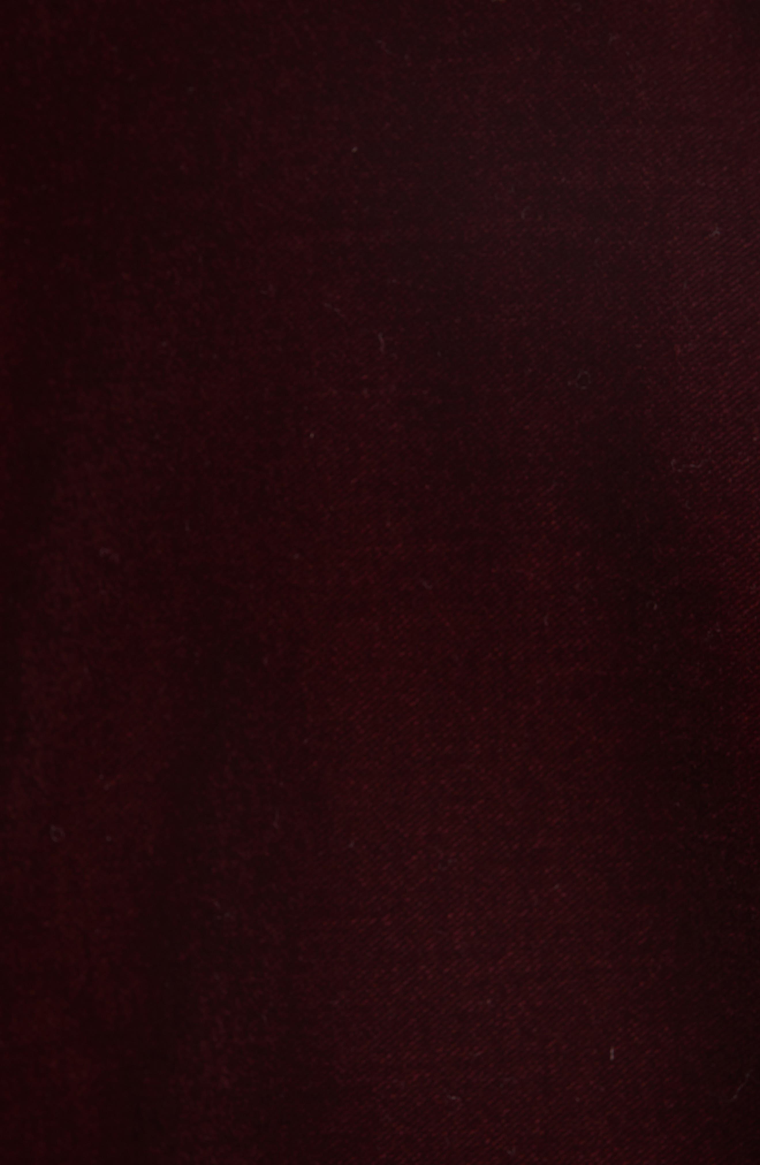 SAINT LAURENT,                             One-Button Velvet Blazer,                             Alternate thumbnail 6, color,                             BORDEAUX