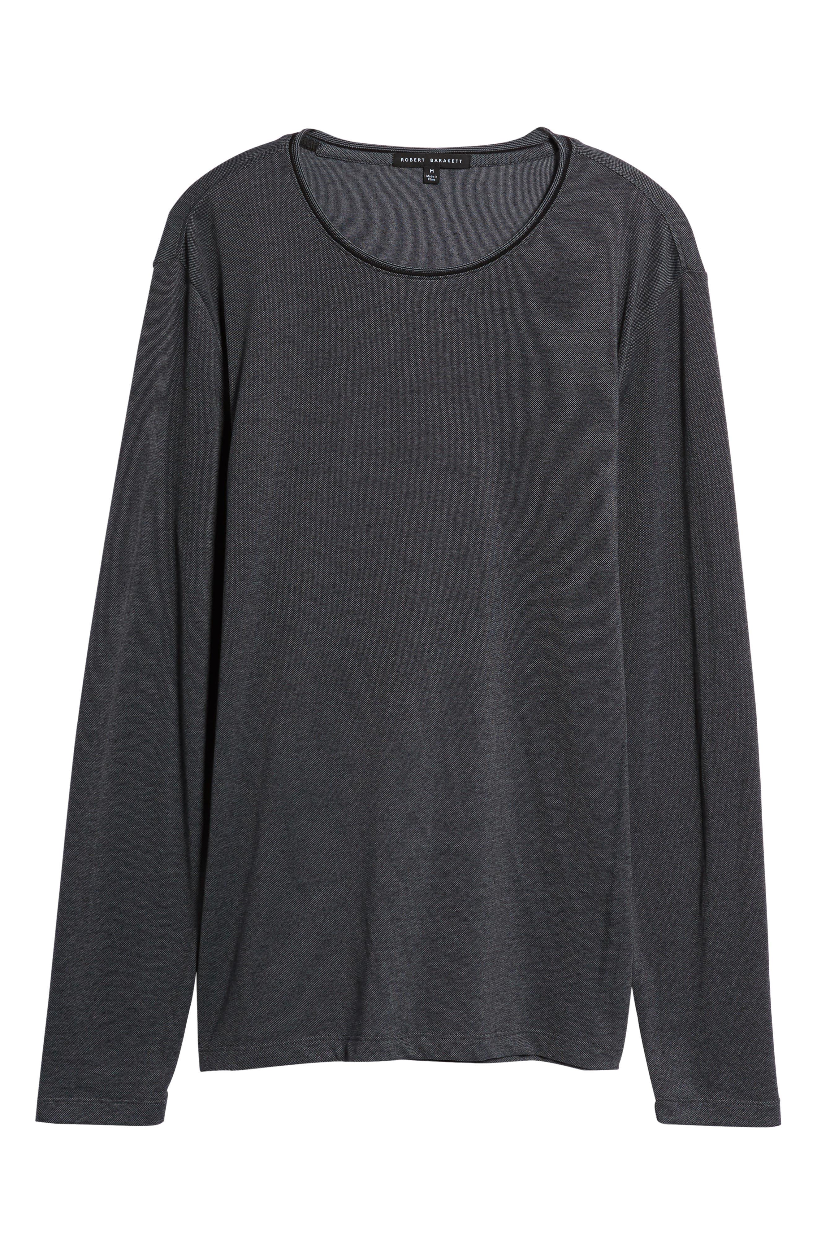 Grand Forks Long Sleeve Piqué T-Shirt,                             Alternate thumbnail 6, color,                             GREY