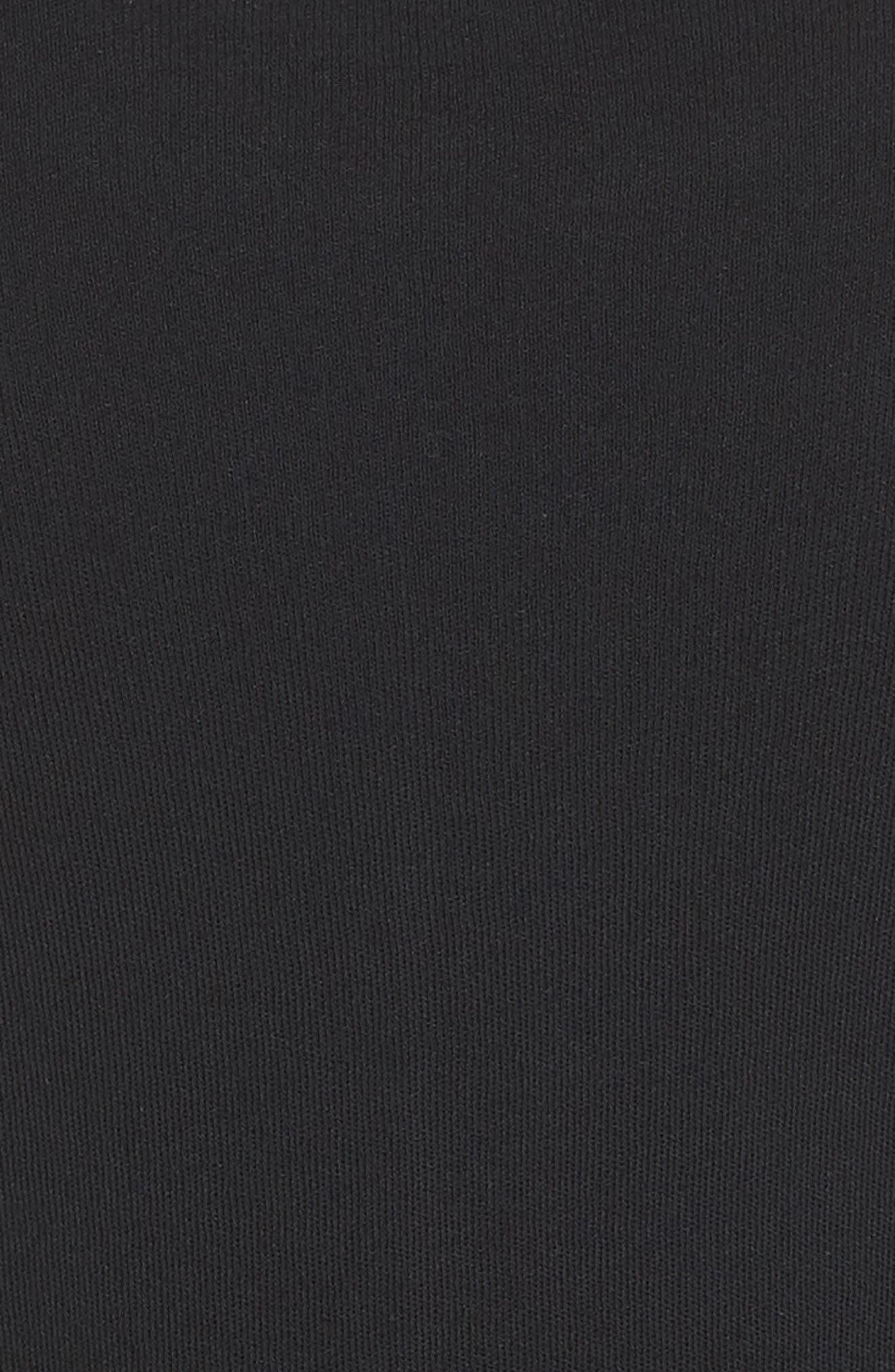 Bell Sleeve Cardigan,                             Alternate thumbnail 5, color,                             BLACK