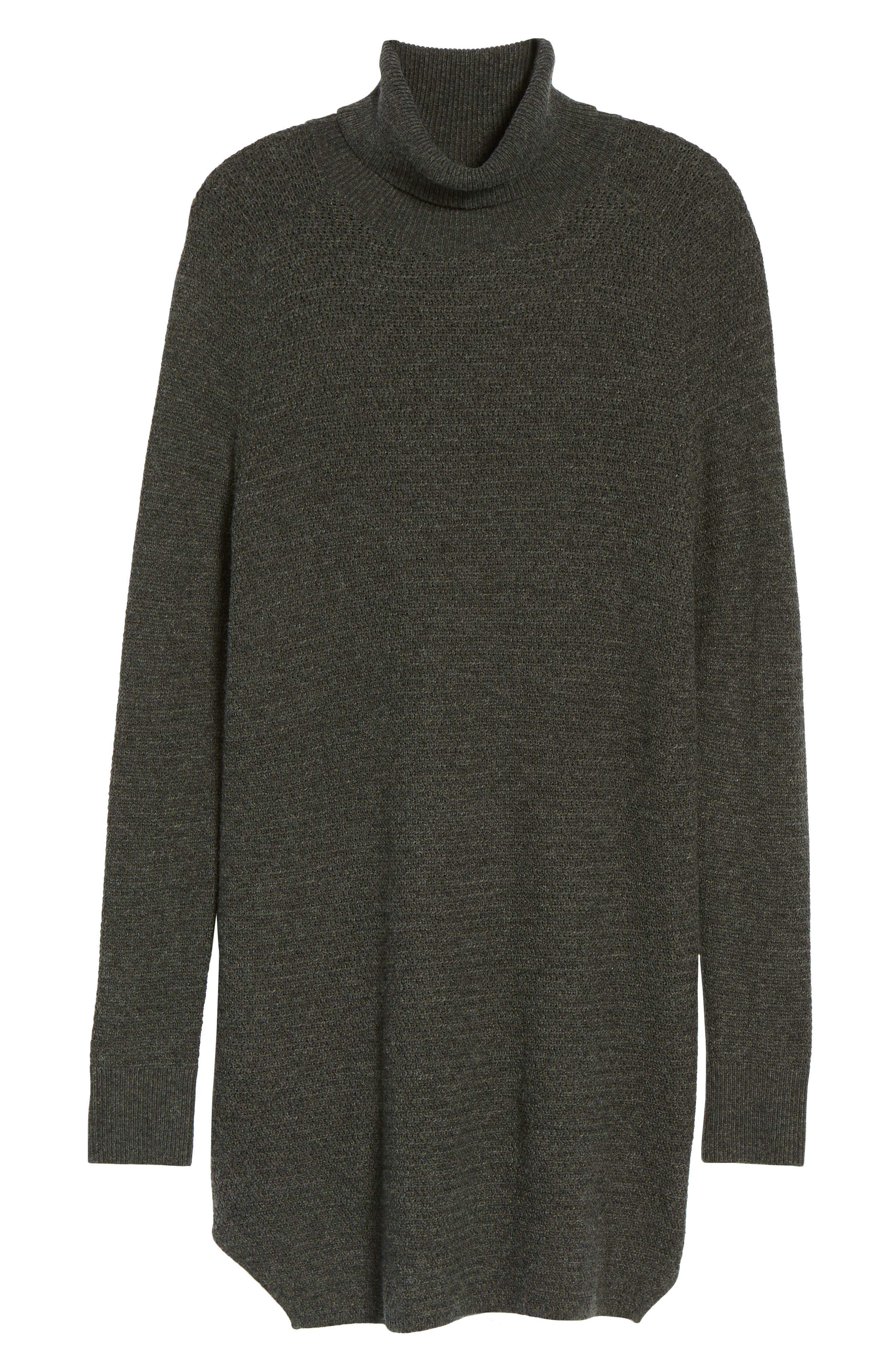 Turtleneck Tunic Sweater,                             Alternate thumbnail 6, color,                             021