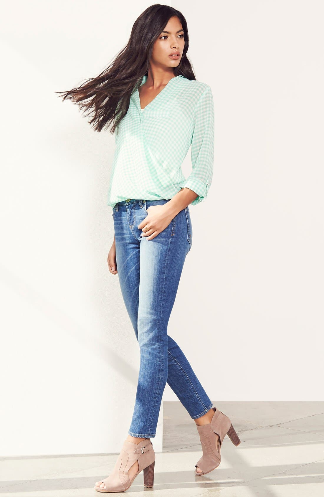 'Diana' Stretch Skinny Jeans,                             Alternate thumbnail 6, color,                             402