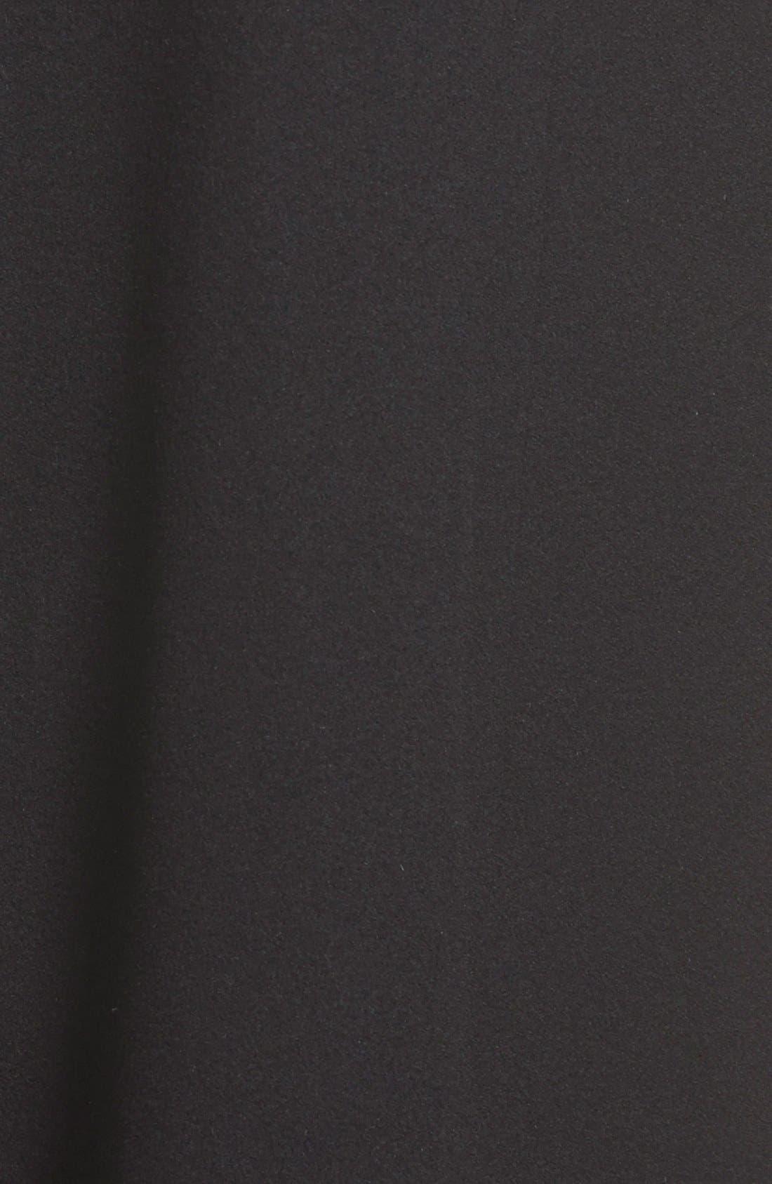 Long Wool Coat,                             Alternate thumbnail 8, color,                             001
