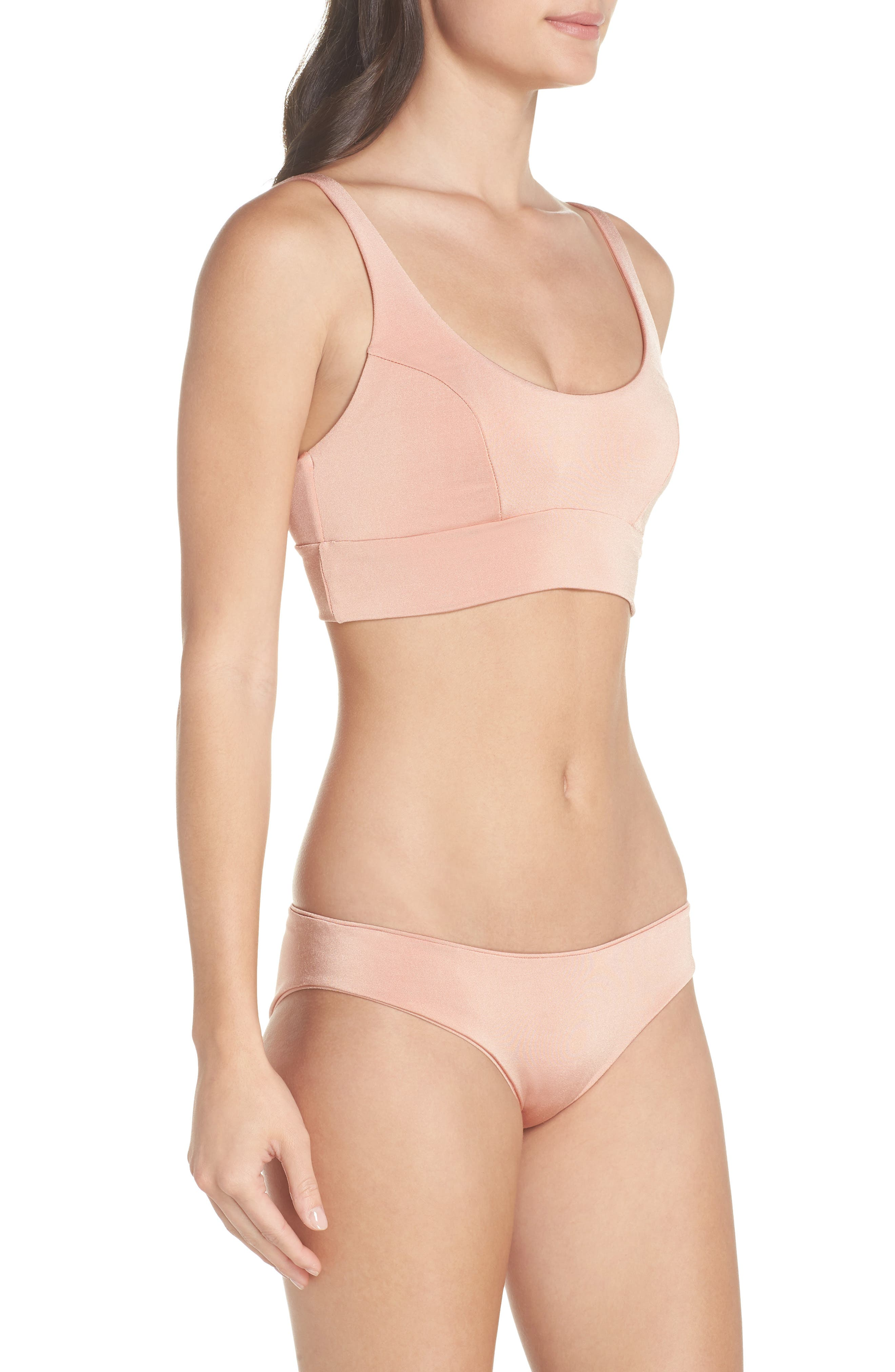 Charlie Bikini Bottoms,                             Alternate thumbnail 9, color,                             BLUSH & BASHFUL