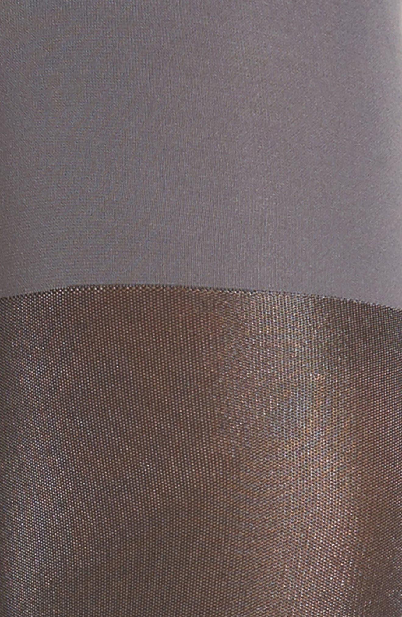 Metallic Shimmer Mid Thigh Shaping Tights,                             Alternate thumbnail 2, color,                             020