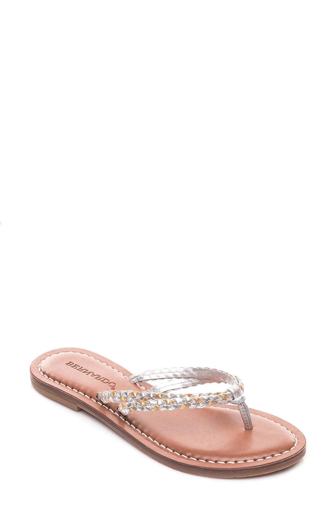 Bernardo Greta Braided Strap Sandal,                             Main thumbnail 2, color,