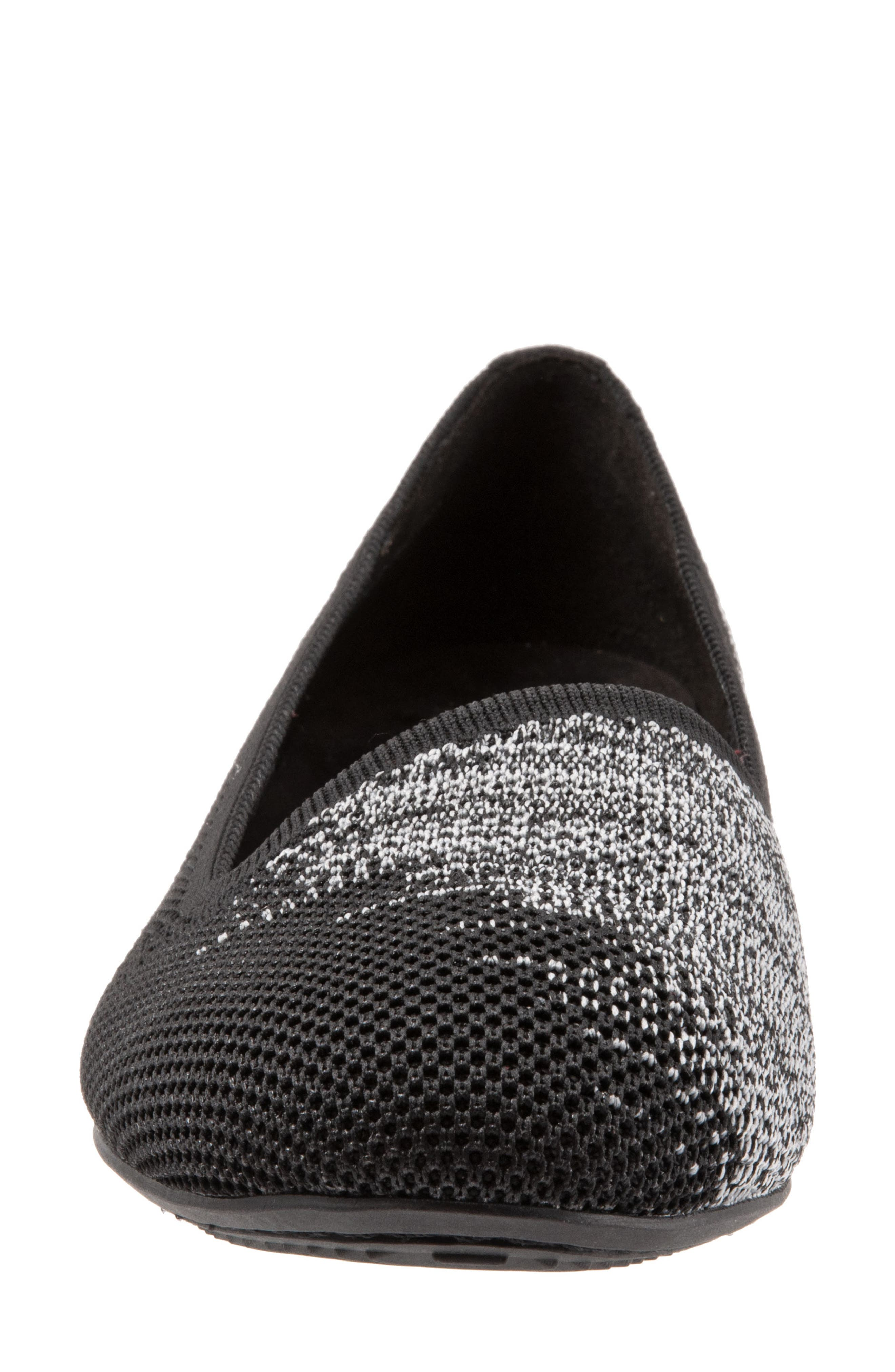 Sicily Knit Flat,                             Alternate thumbnail 4, color,                             BLACK KNIT FABRIC
