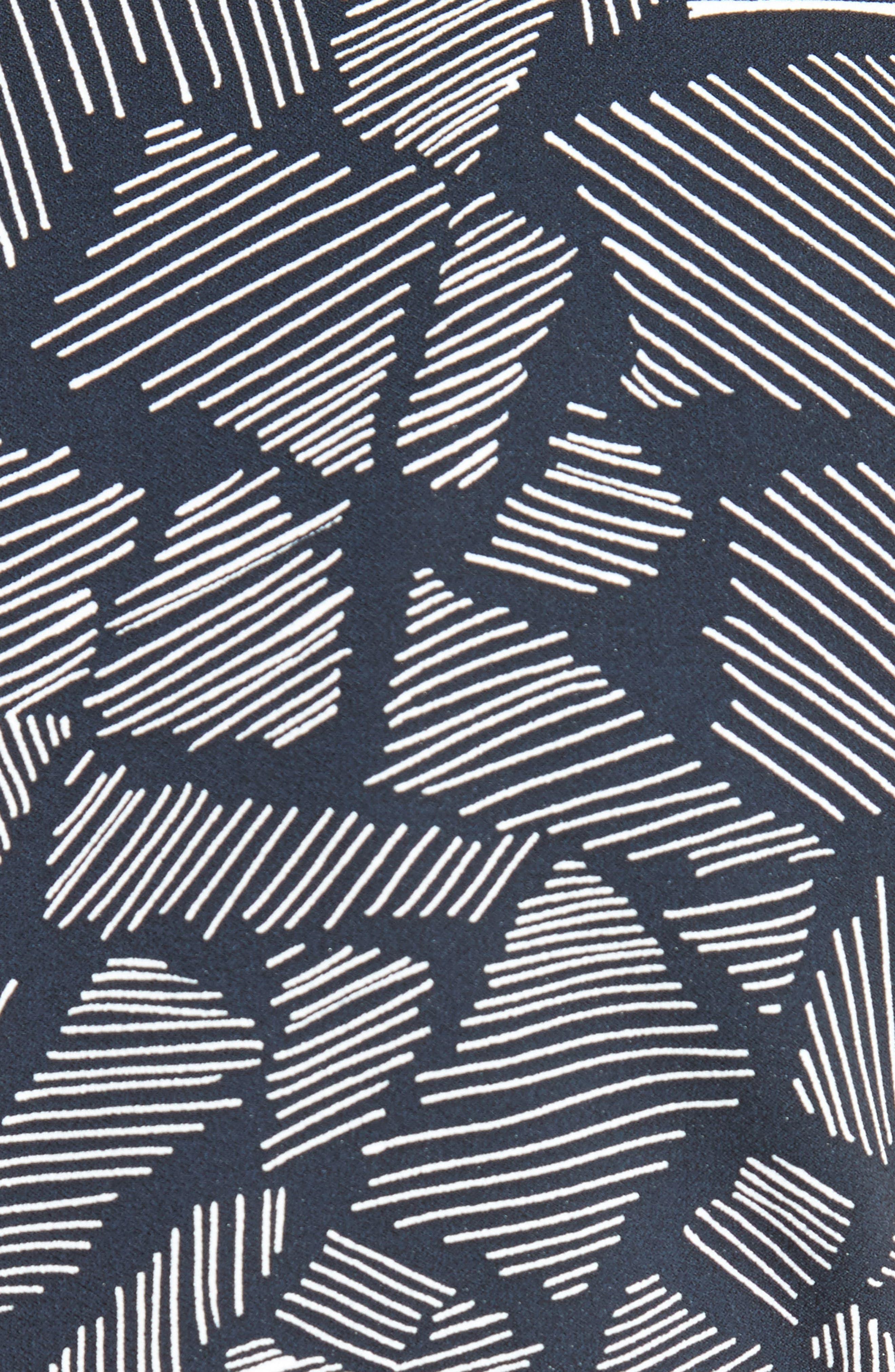 Jasmine Print Midi Dress,                             Alternate thumbnail 6, color,                             411