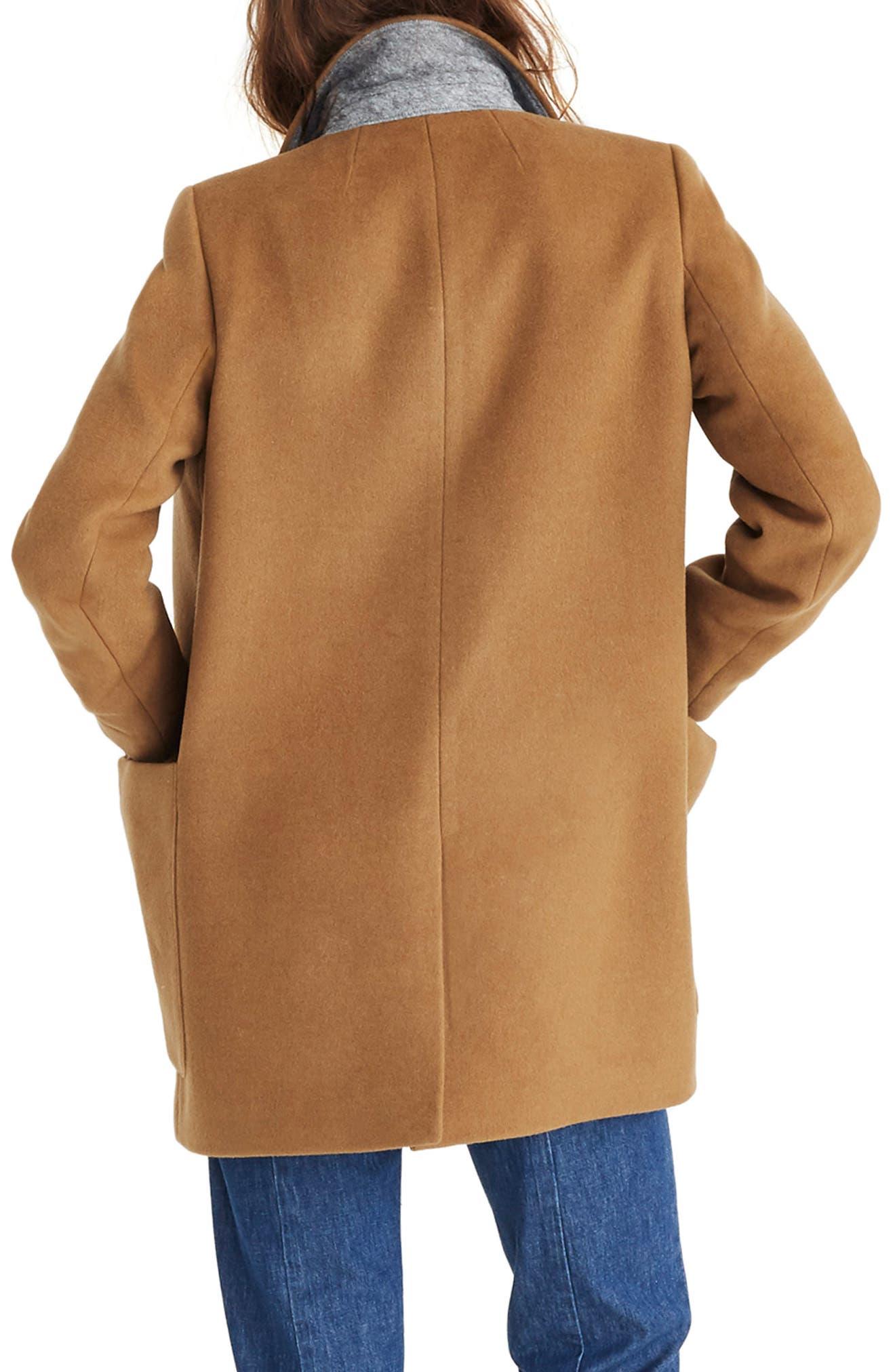 Hollis Double Breasted Coat,                             Alternate thumbnail 2, color,                             CLASSIC DESERT