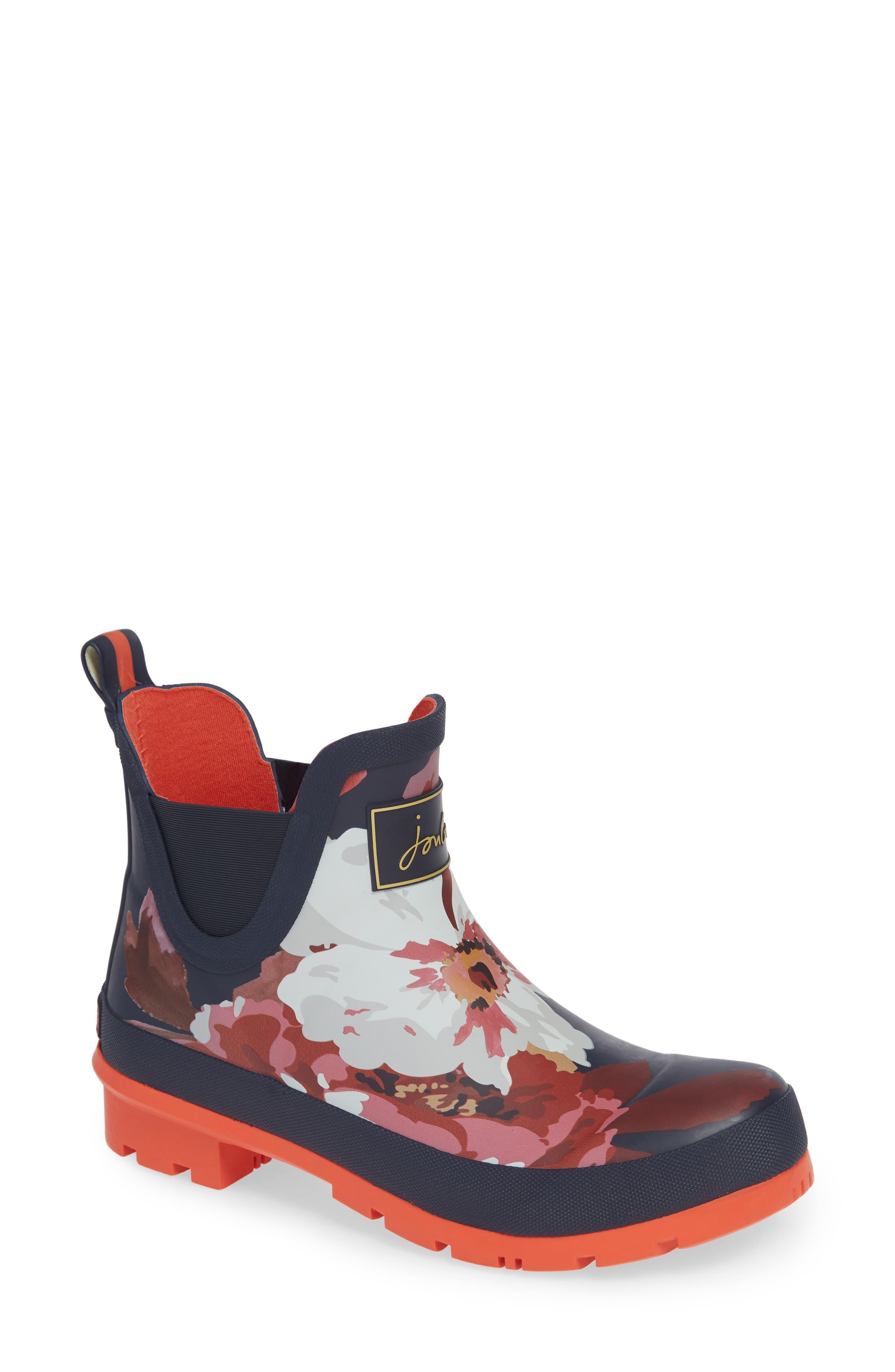 Wellibob Short Rain Boot,                         Main,                         color, FRENCH NAVY BLOOM