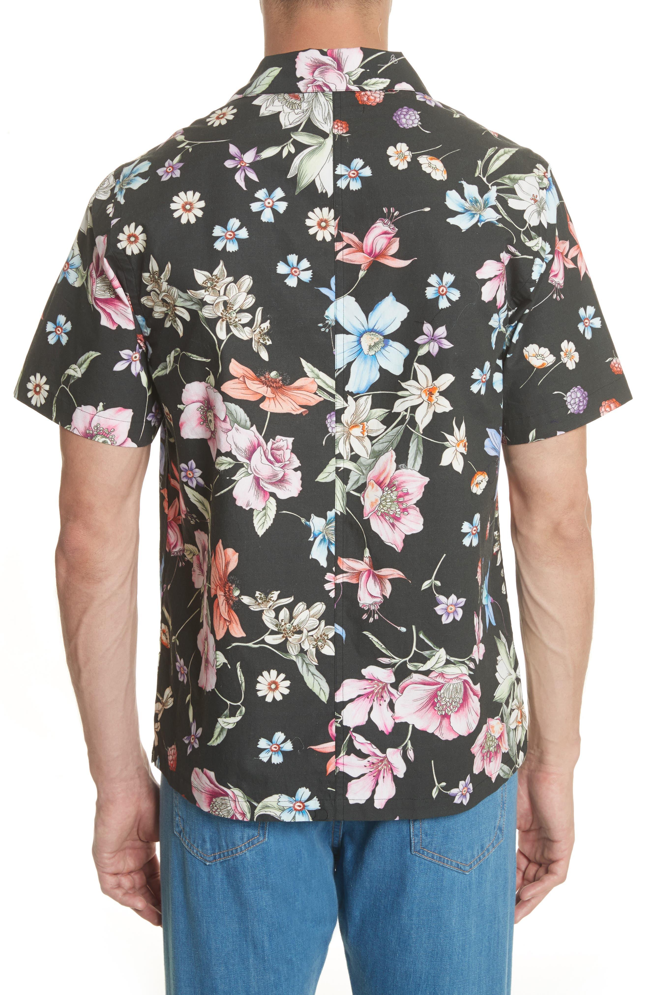 Beach Bouquet Print Shirt,                             Alternate thumbnail 2, color,                             009