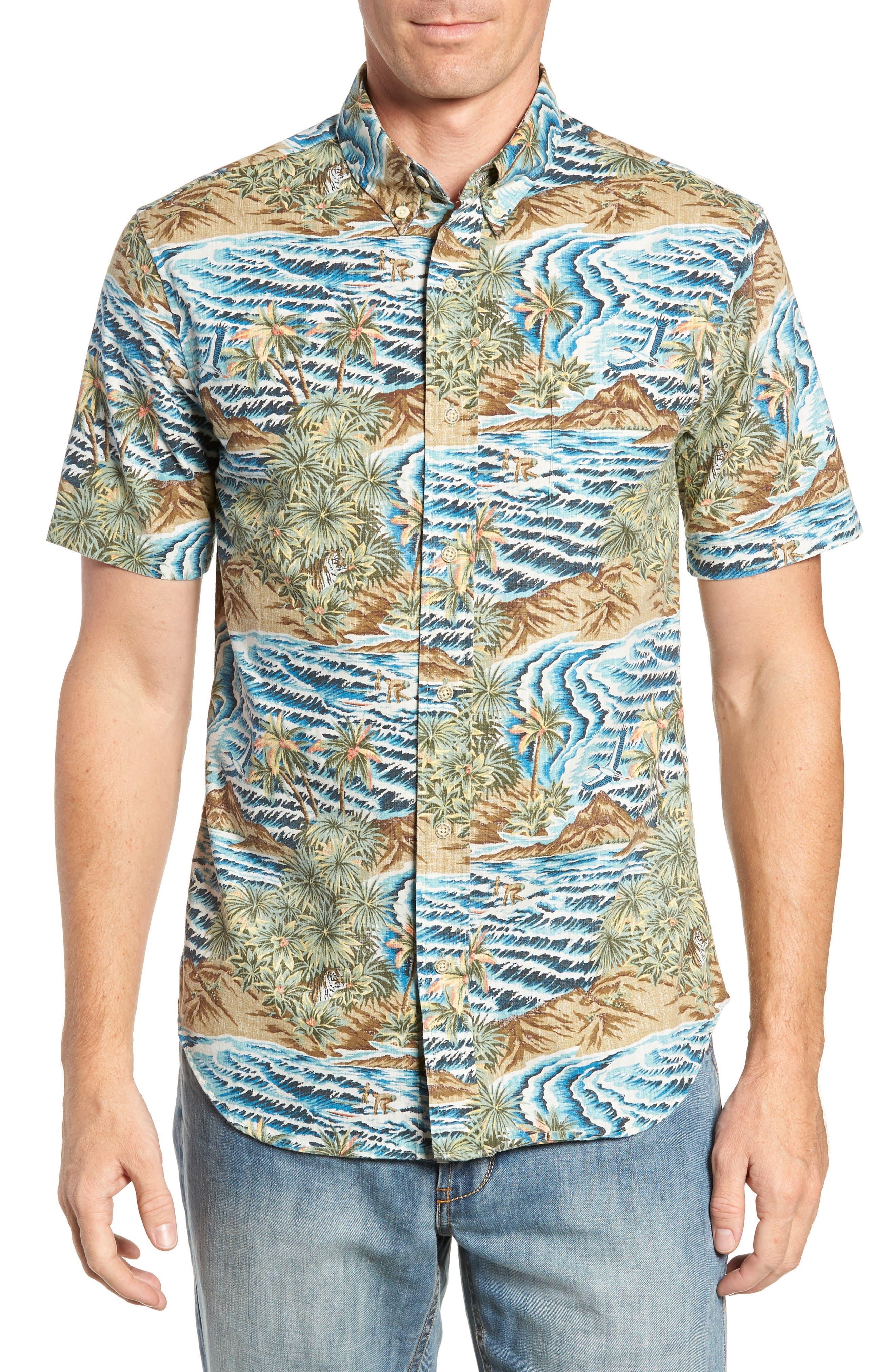 Sumatra Slide Tailored Fit Sport Shirt,                         Main,                         color, 430