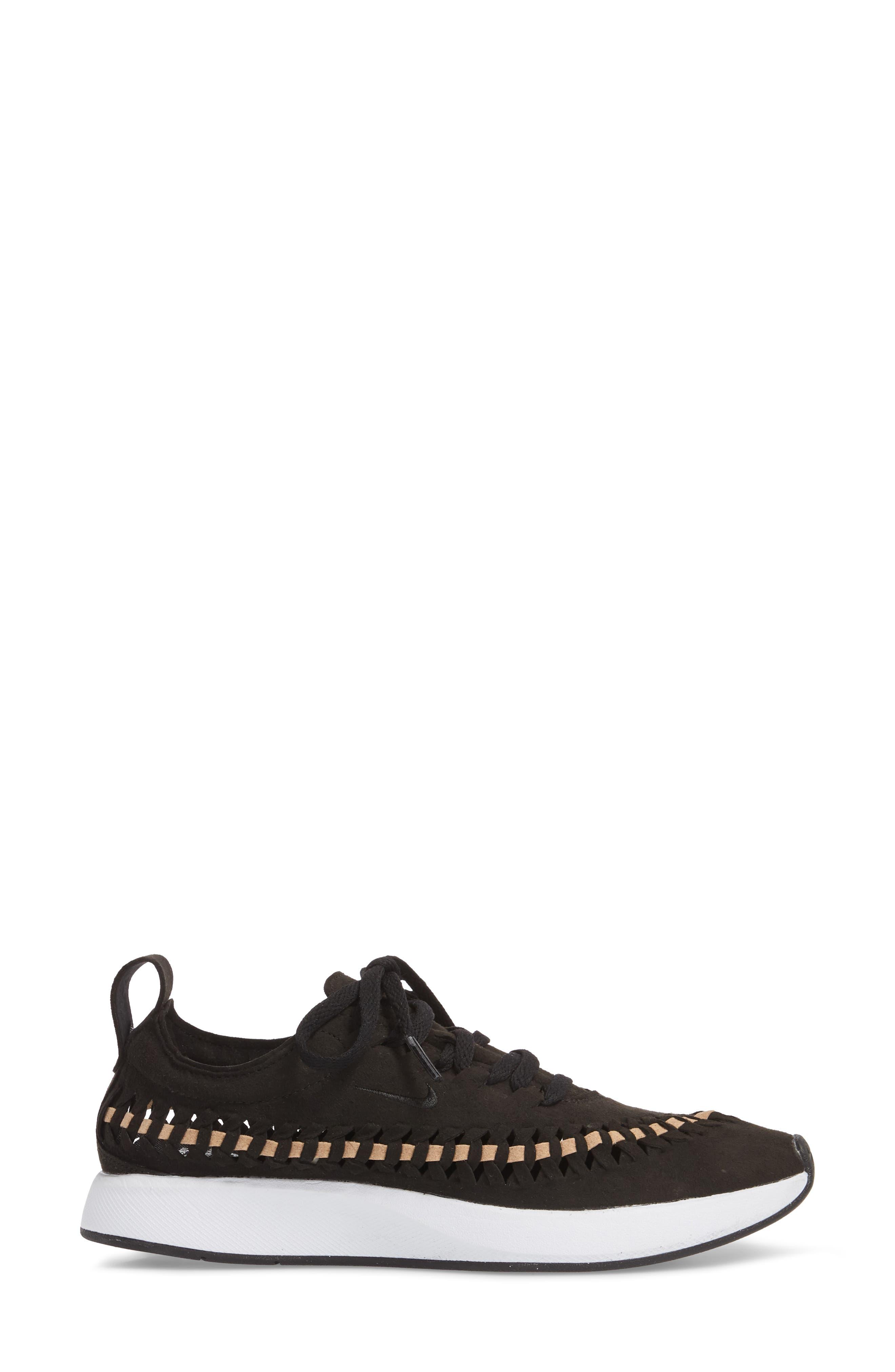 Dualtone Racer Woven Sneaker,                             Alternate thumbnail 3, color,                             001