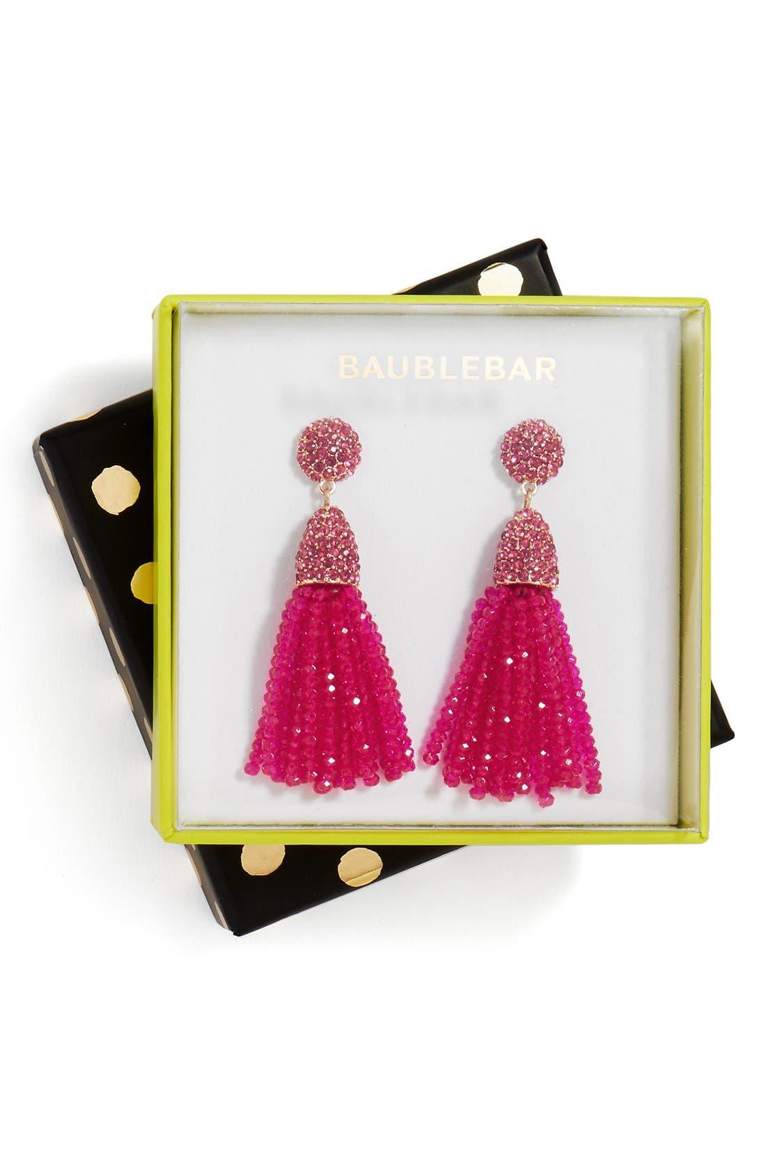 Annabelle Mini Tassel Drop Earrings,                             Main thumbnail 6, color,