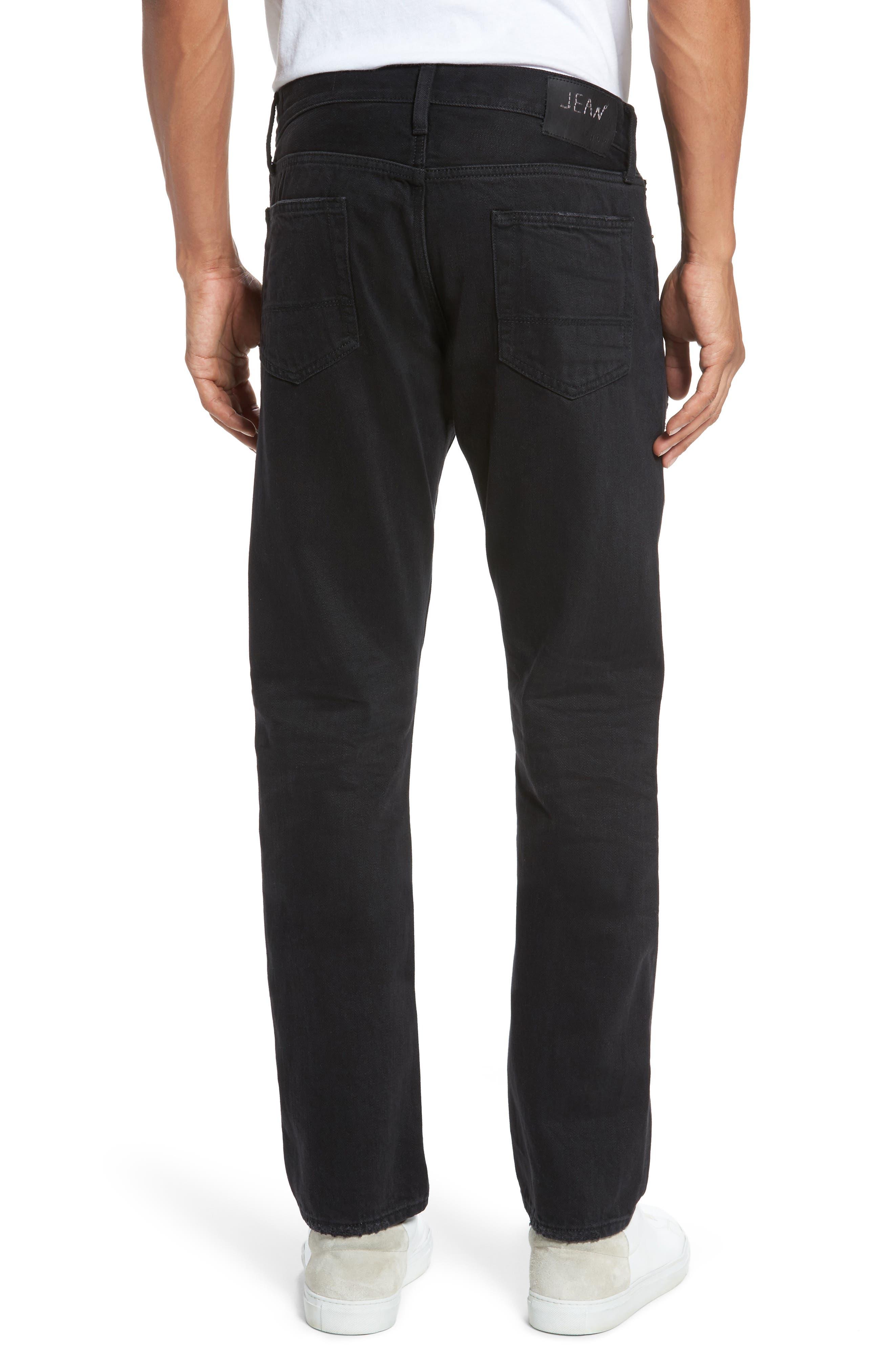 Straight Leg Selvedge Jeans,                             Alternate thumbnail 2, color,