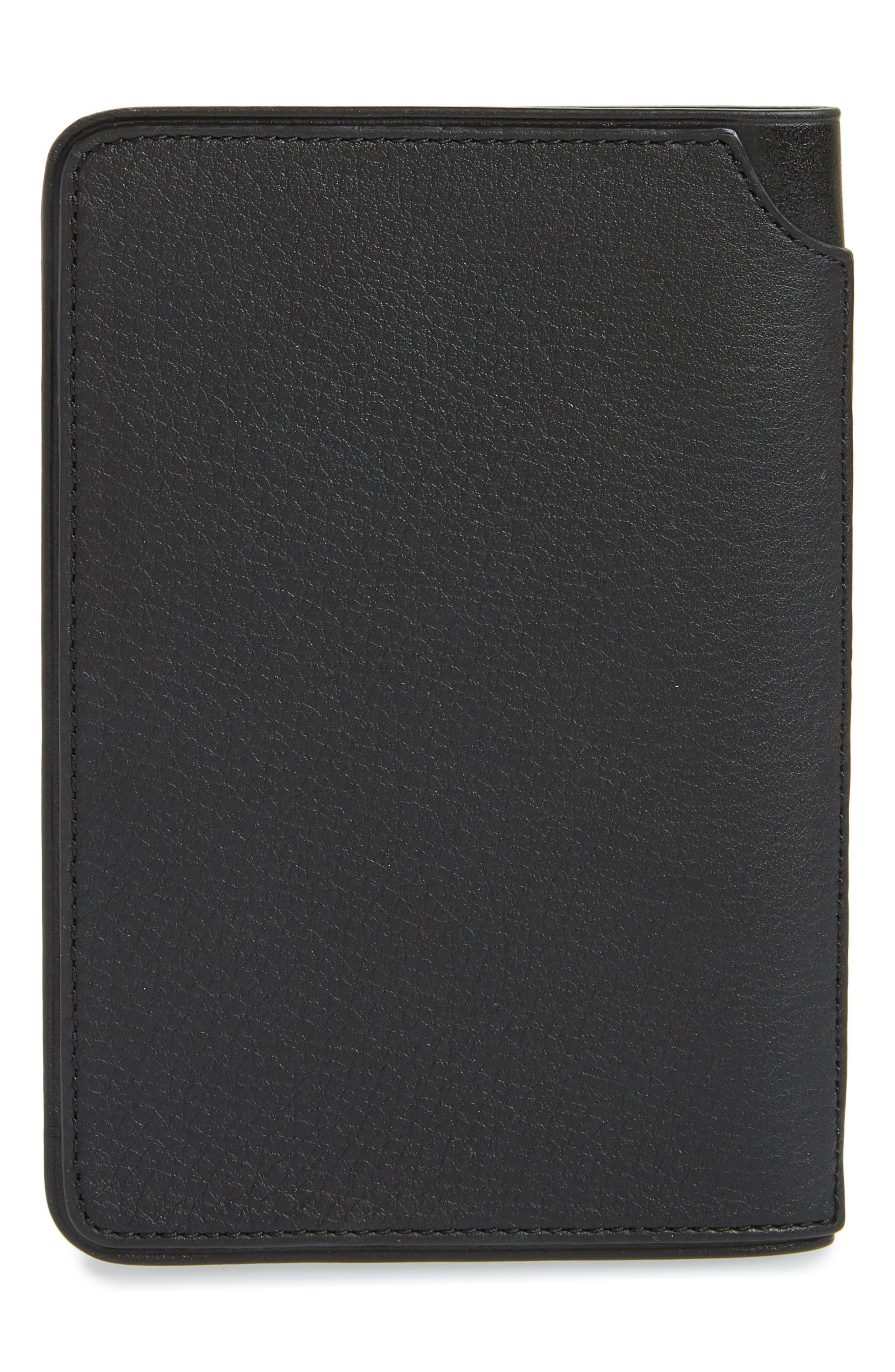 Leather Passport Holder,                             Alternate thumbnail 4, color,                             001