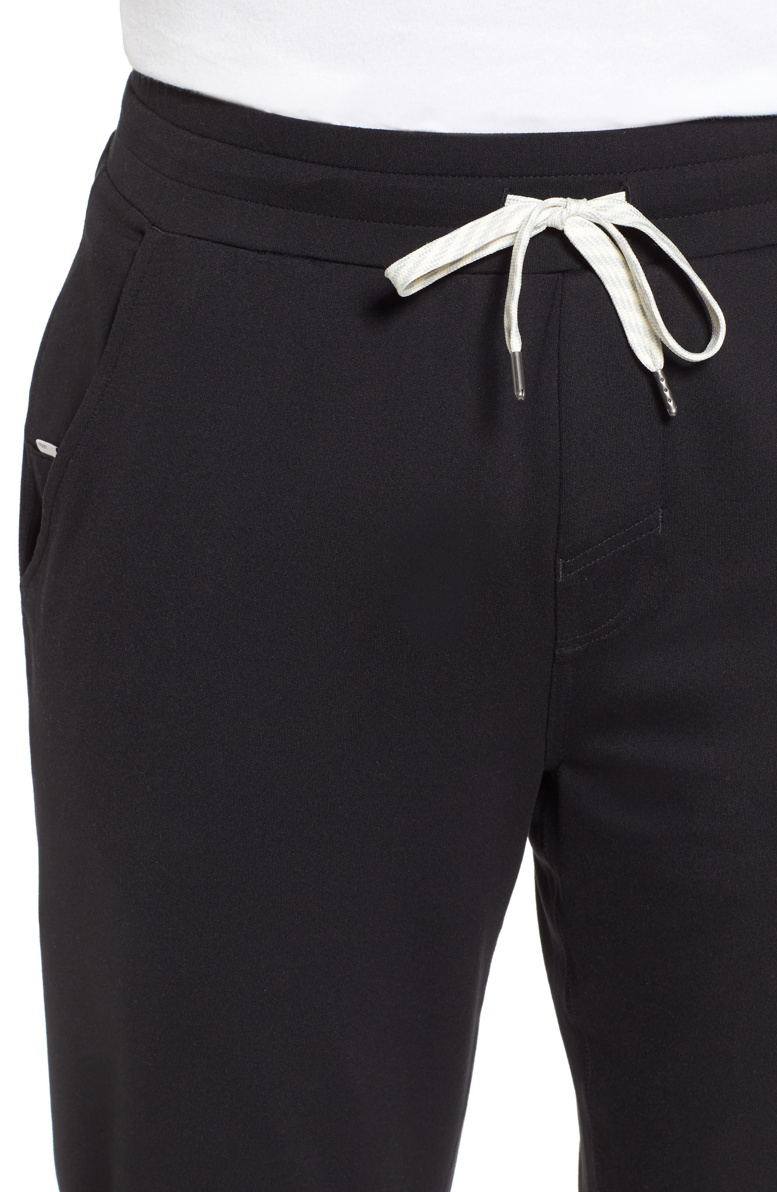 Ponto Jogger Pants,                             Alternate thumbnail 4, color,                             BLACK