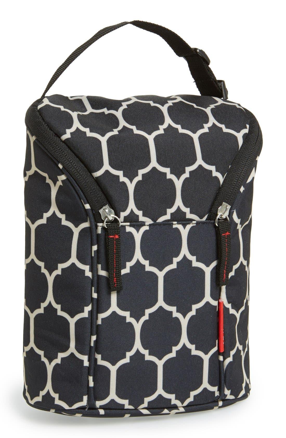 'Grab & Go' Double Bottle Bag,                         Main,                         color, 001