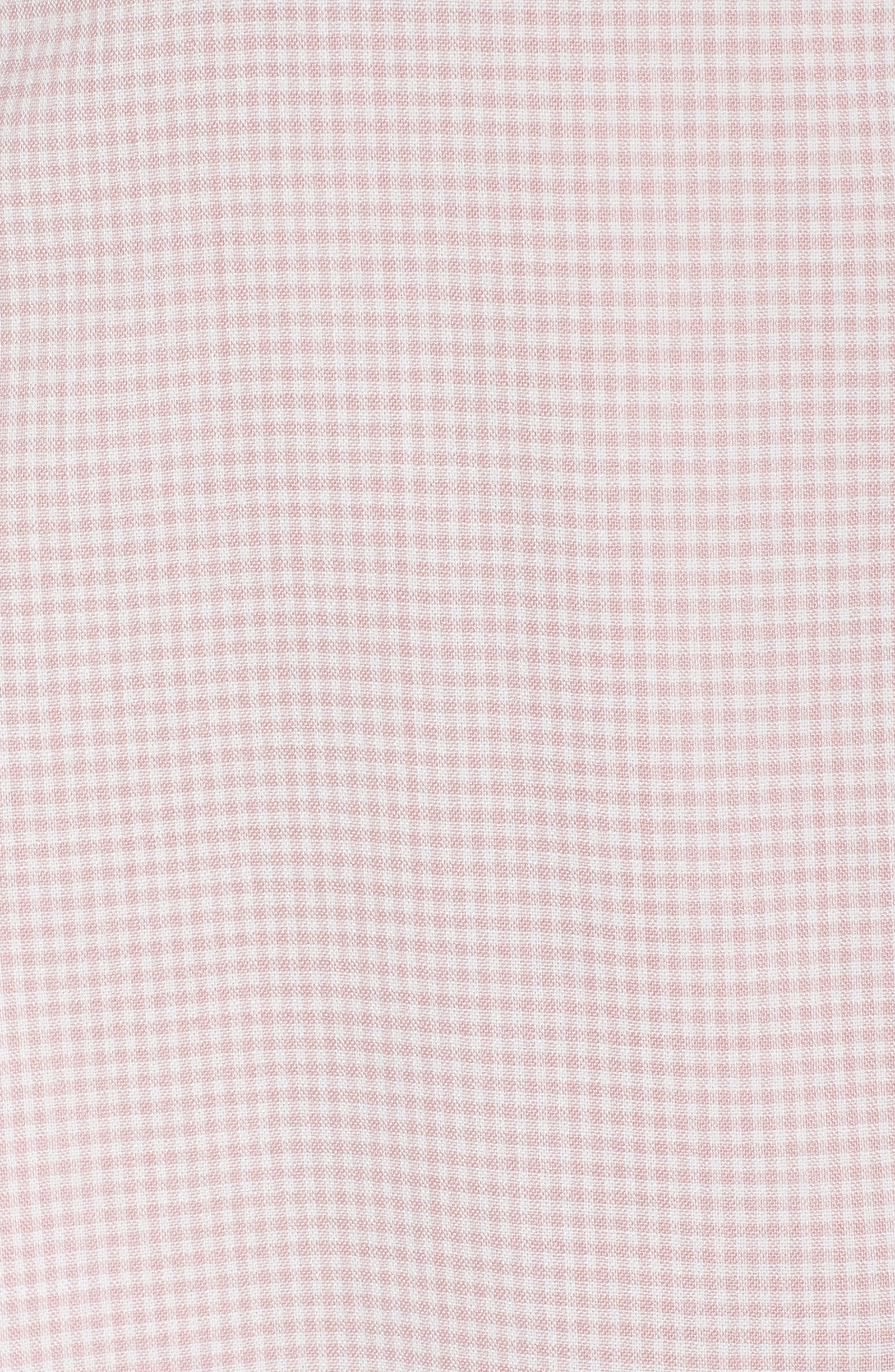 Gingham Wrap Dress,                             Alternate thumbnail 6, color,