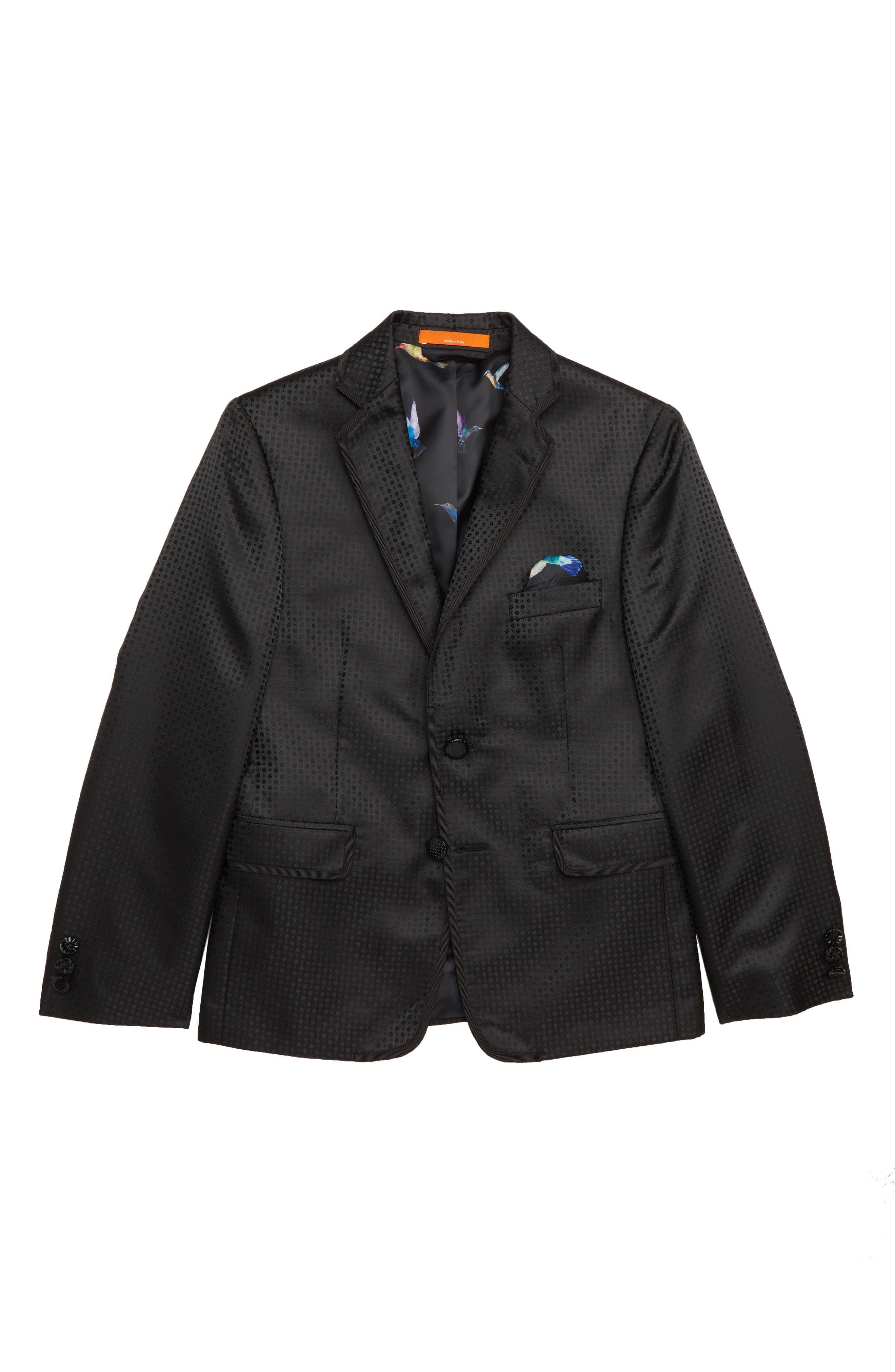 Neat Blazer,                         Main,                         color, BLACK