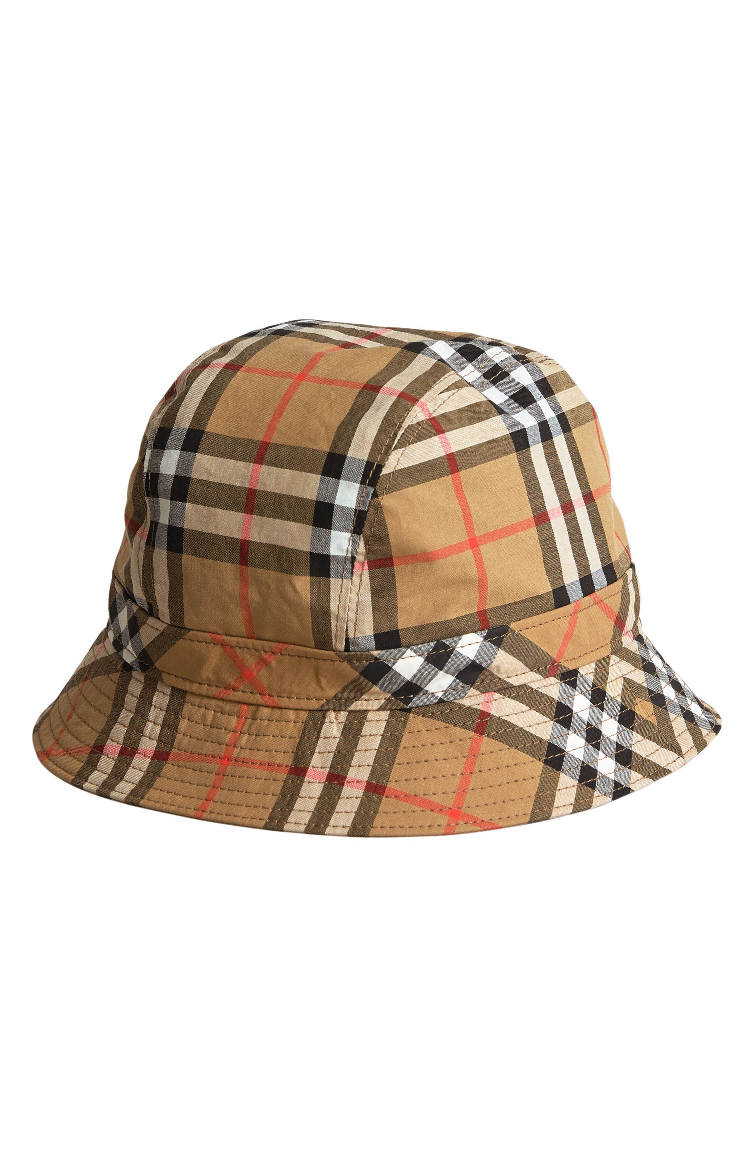 Vintage Check Bucket Hat,                             Main thumbnail 1, color,                             200
