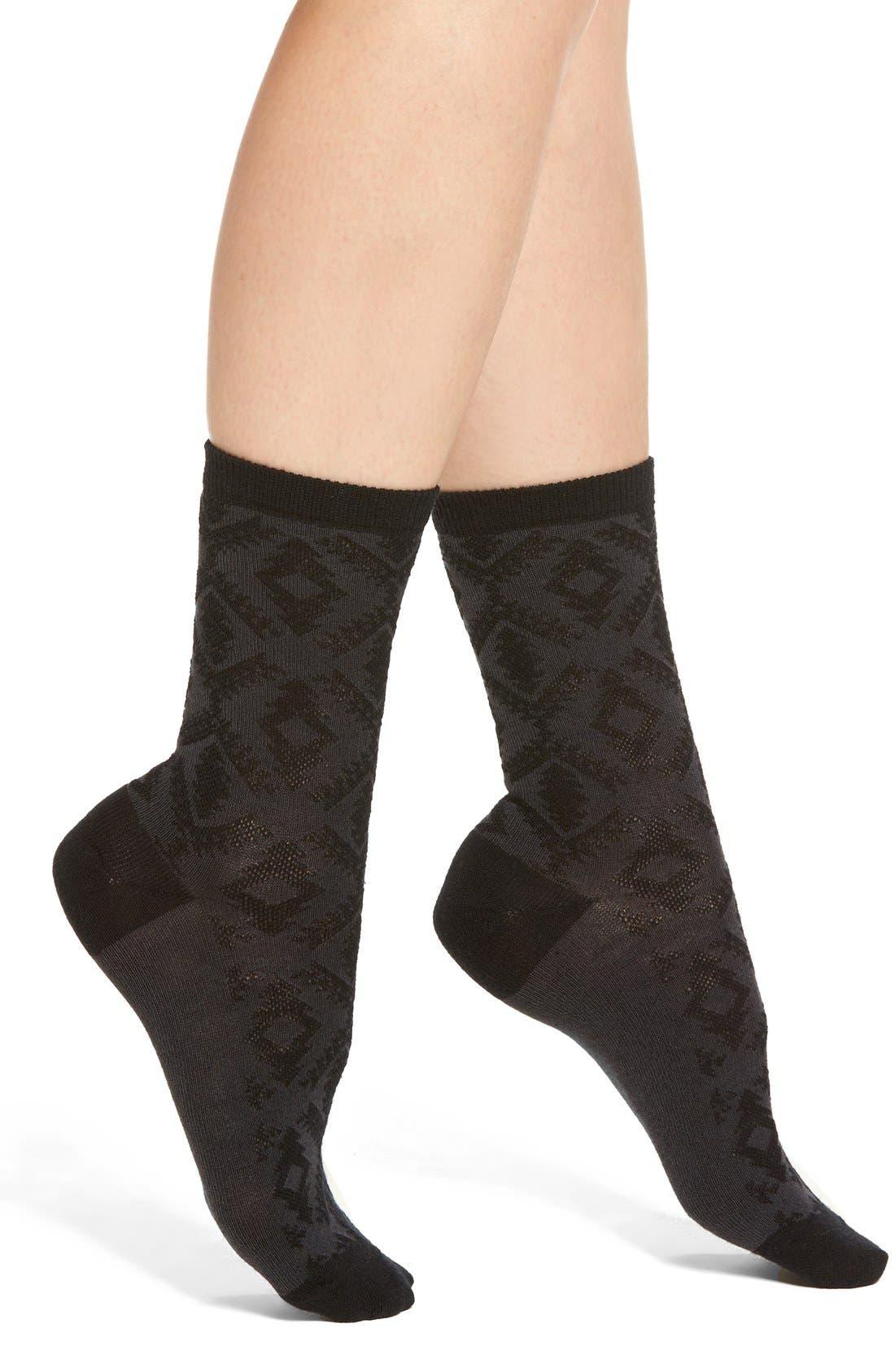 'Diamond River' Anklet Socks,                             Main thumbnail 1, color,                             001
