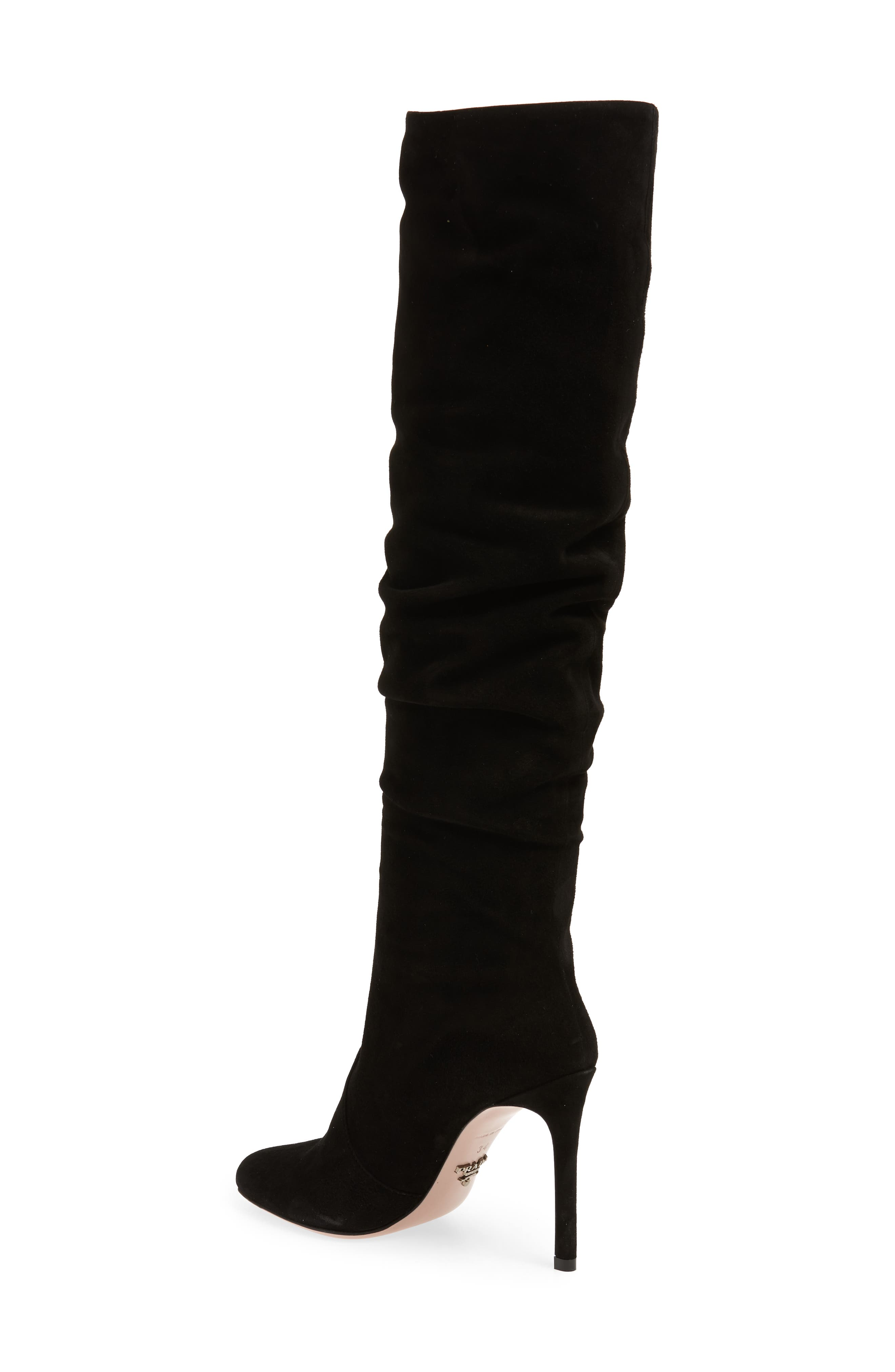 Slouch Tall Boot,                             Alternate thumbnail 2, color,                             BLACK