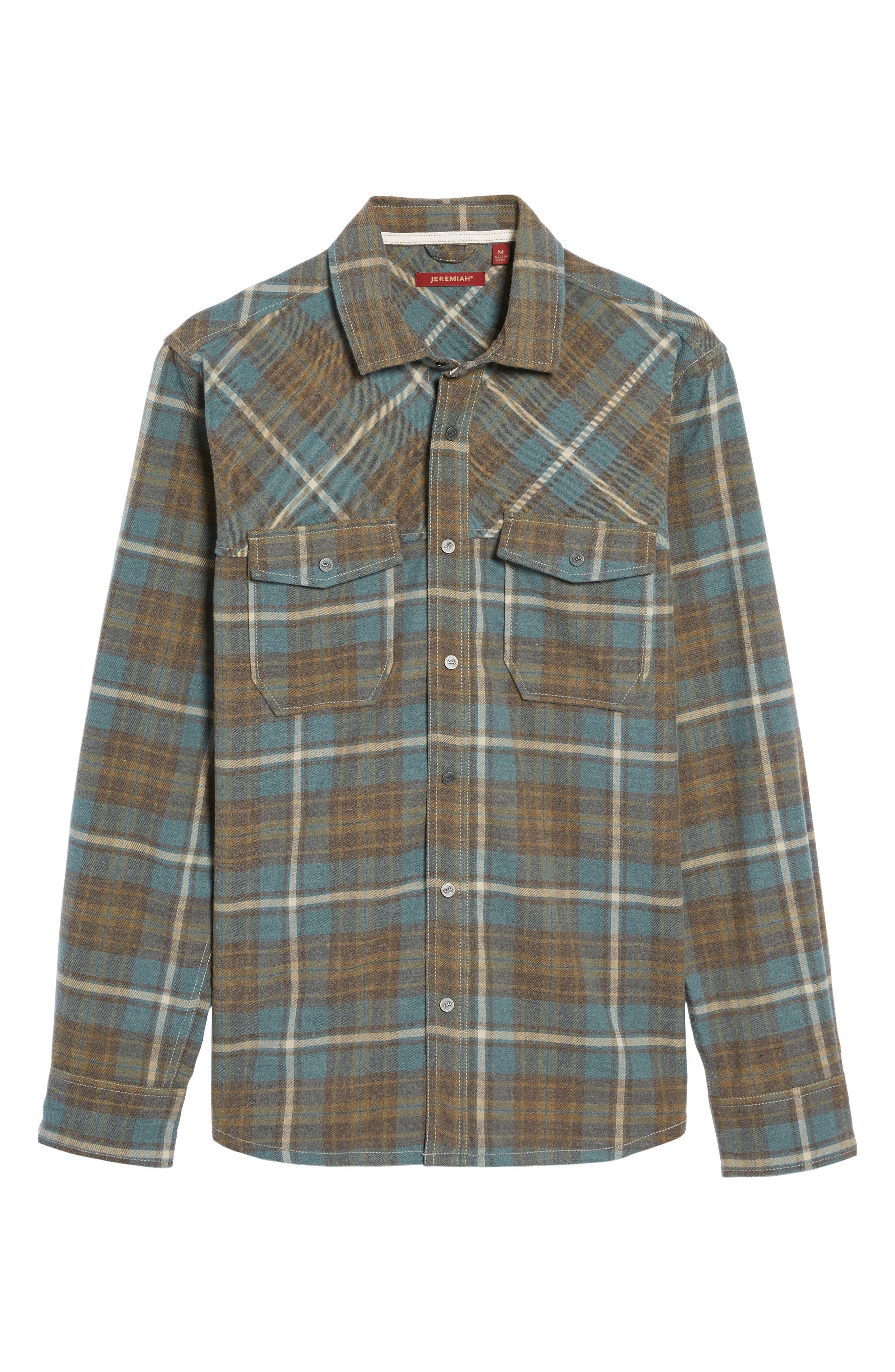Ranger Plaid Shirt,                             Alternate thumbnail 5, color,                             424