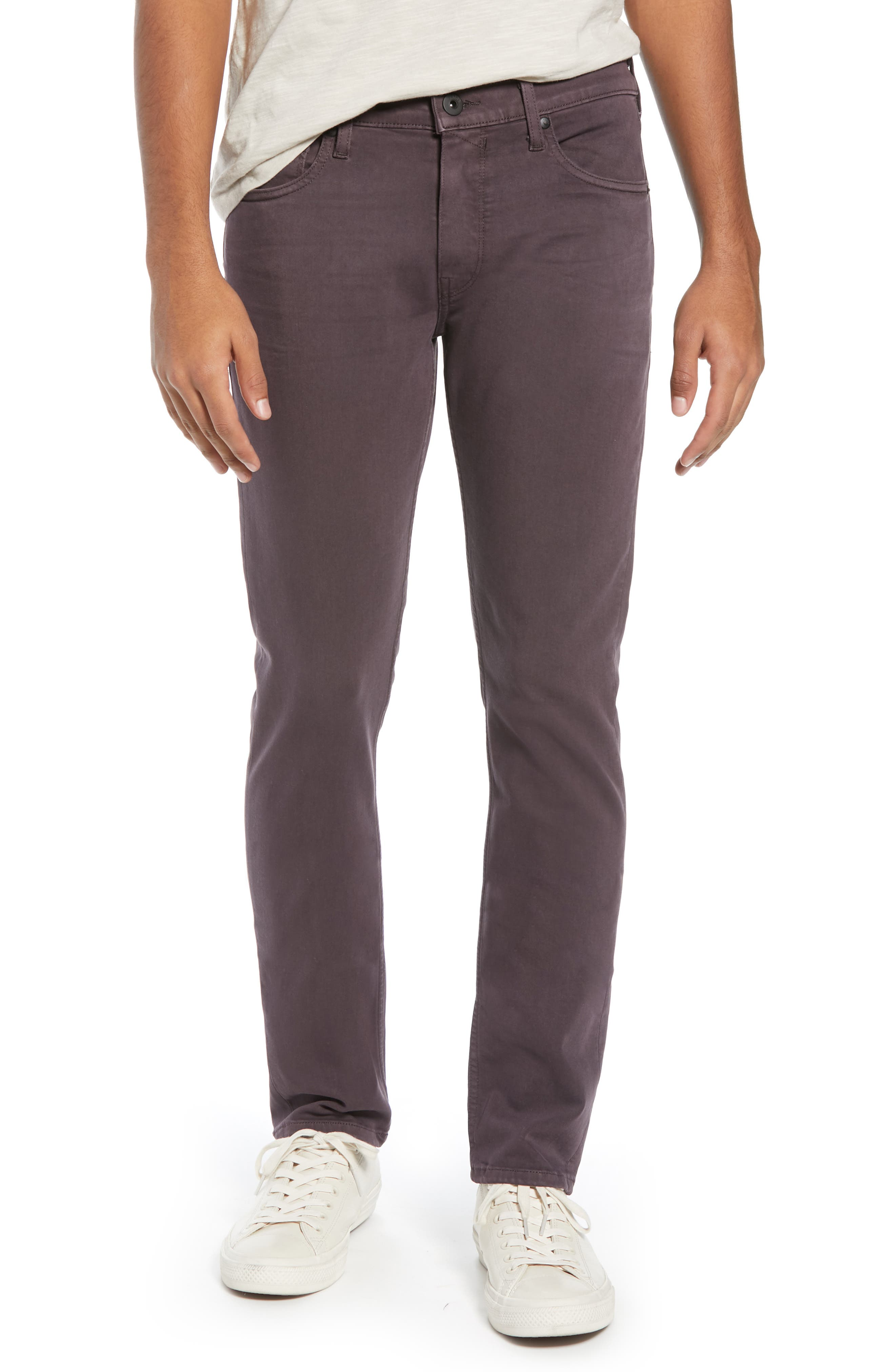 Transcend - Lennox Slim Fit Jeans,                             Main thumbnail 1, color,                             VINTAGE PLUM WINE