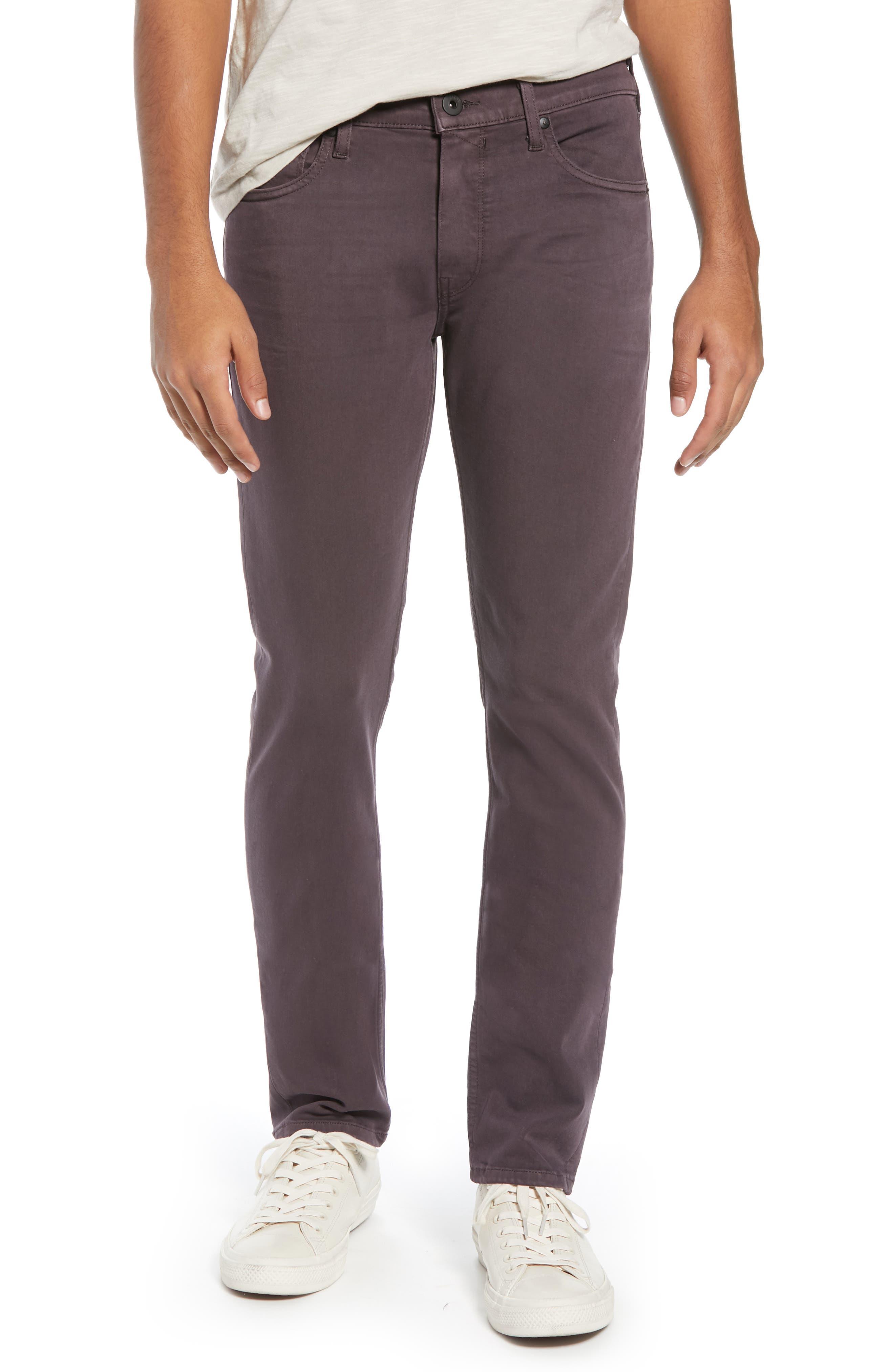 Transcend - Lennox Slim Fit Jeans, Main, color, VINTAGE PLUM WINE