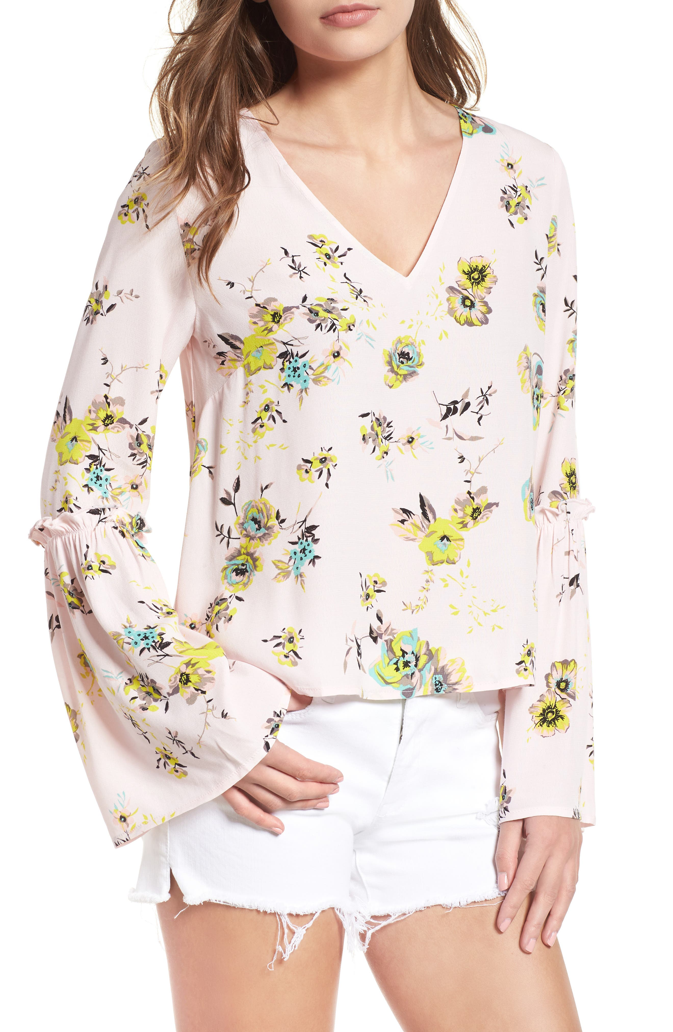 Bell Sleeve Blouse,                             Main thumbnail 1, color,                             680