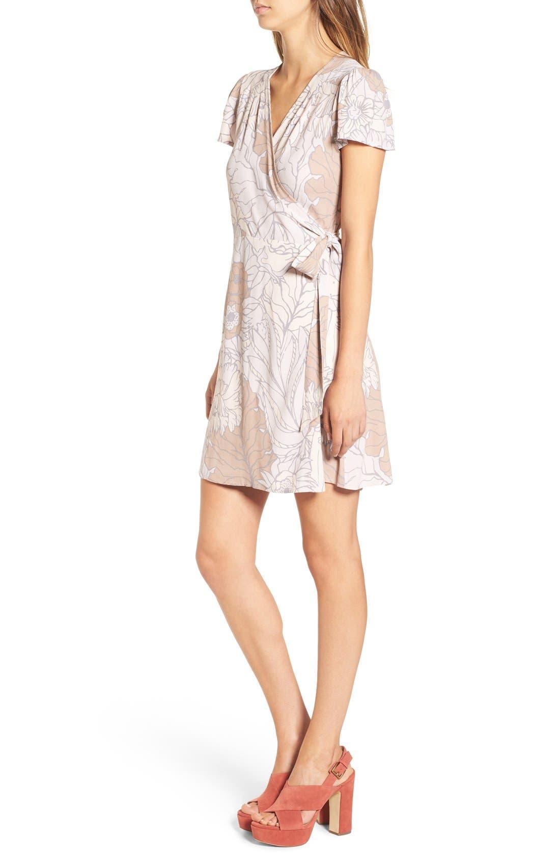 Wrap Dress,                             Alternate thumbnail 4, color,                             050