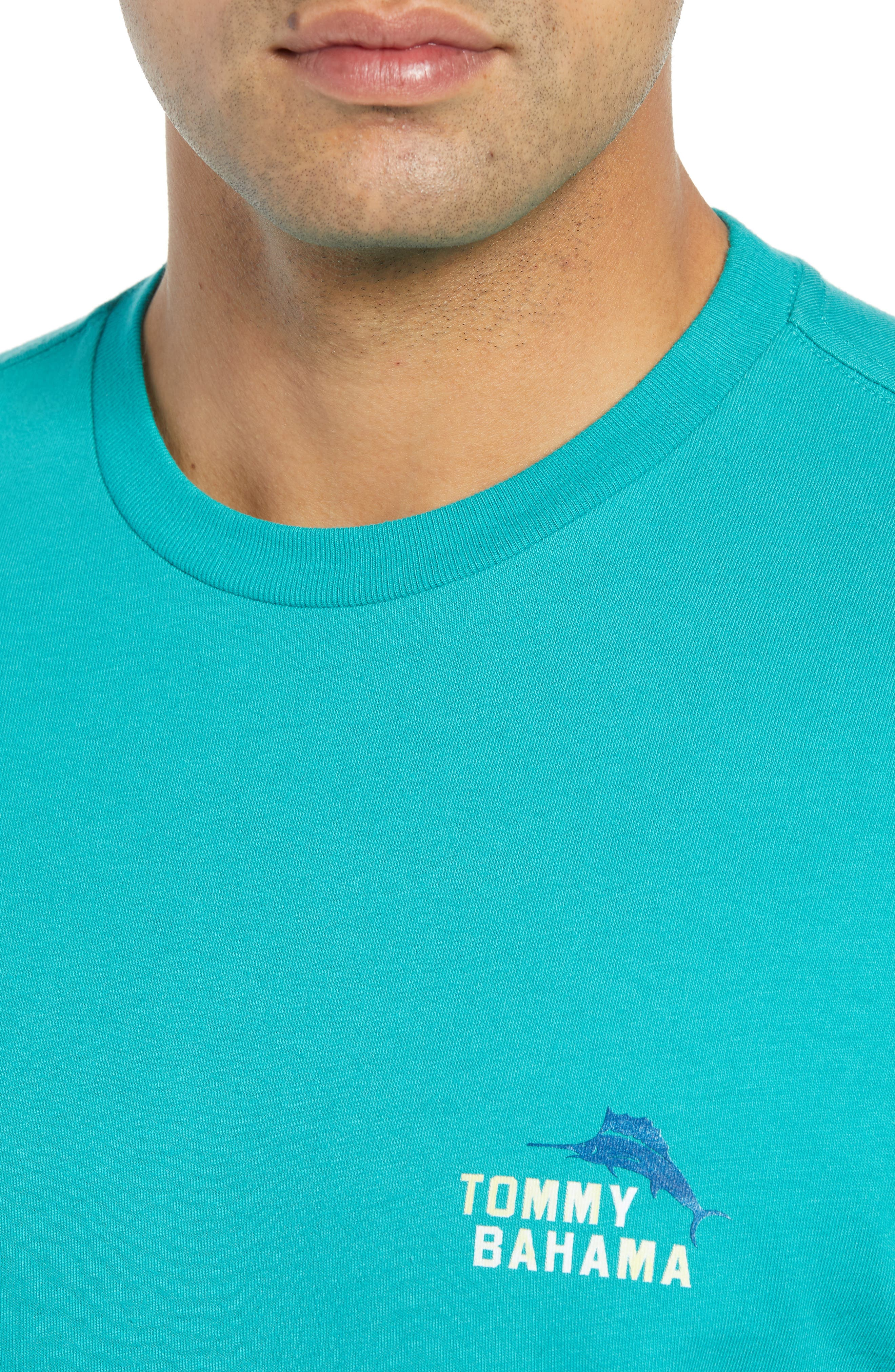 Between the Uprights Graphic T-Shirt,                             Alternate thumbnail 4, color,                             GULF SHORE