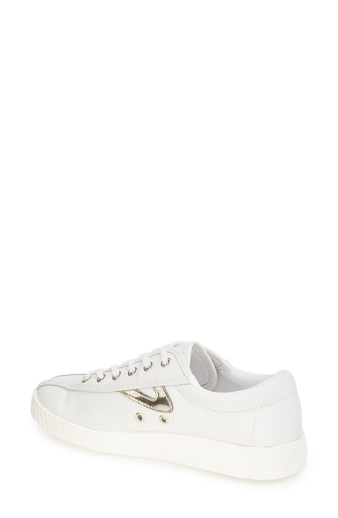 'Nylite2 Plus' Sneaker,                             Alternate thumbnail 2, color,                             WHITE/ GOLD