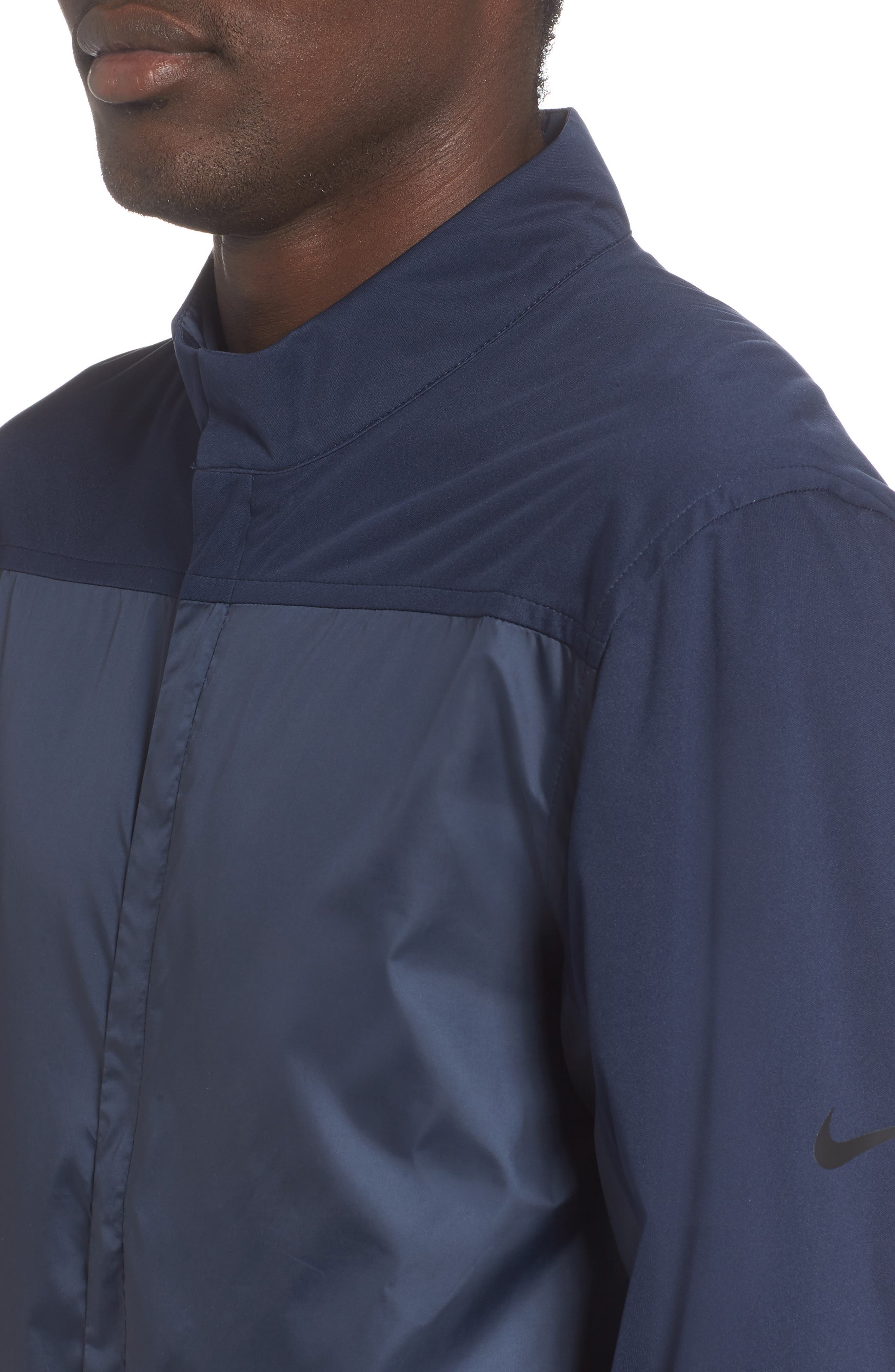 Shield Core Zip Golf Jacket,                             Alternate thumbnail 4, color,                             OBSIDIAN/ OBSIDIAN/ BLACK