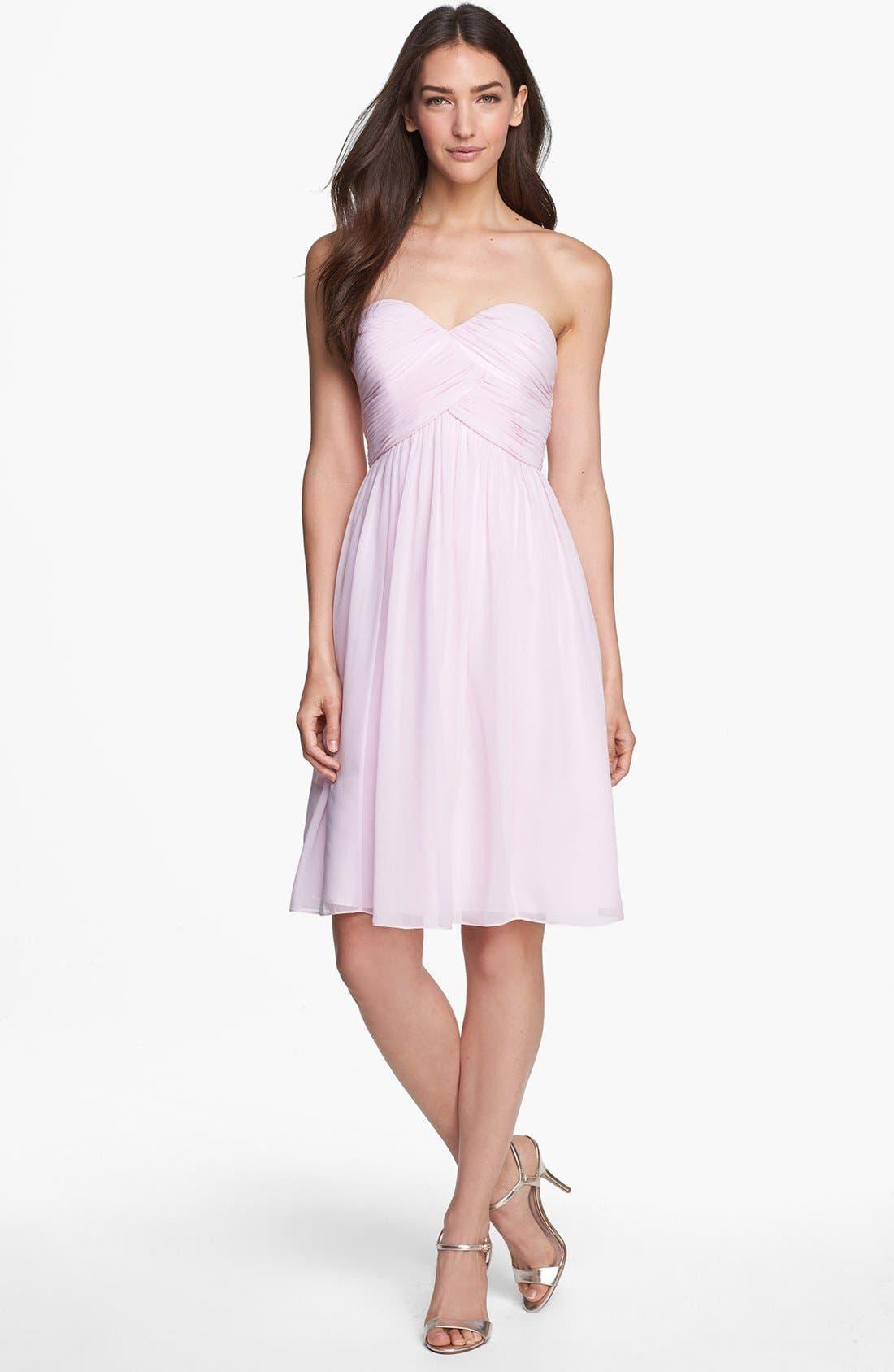 'Morgan' Strapless Silk Chiffon Dress,                             Alternate thumbnail 96, color,