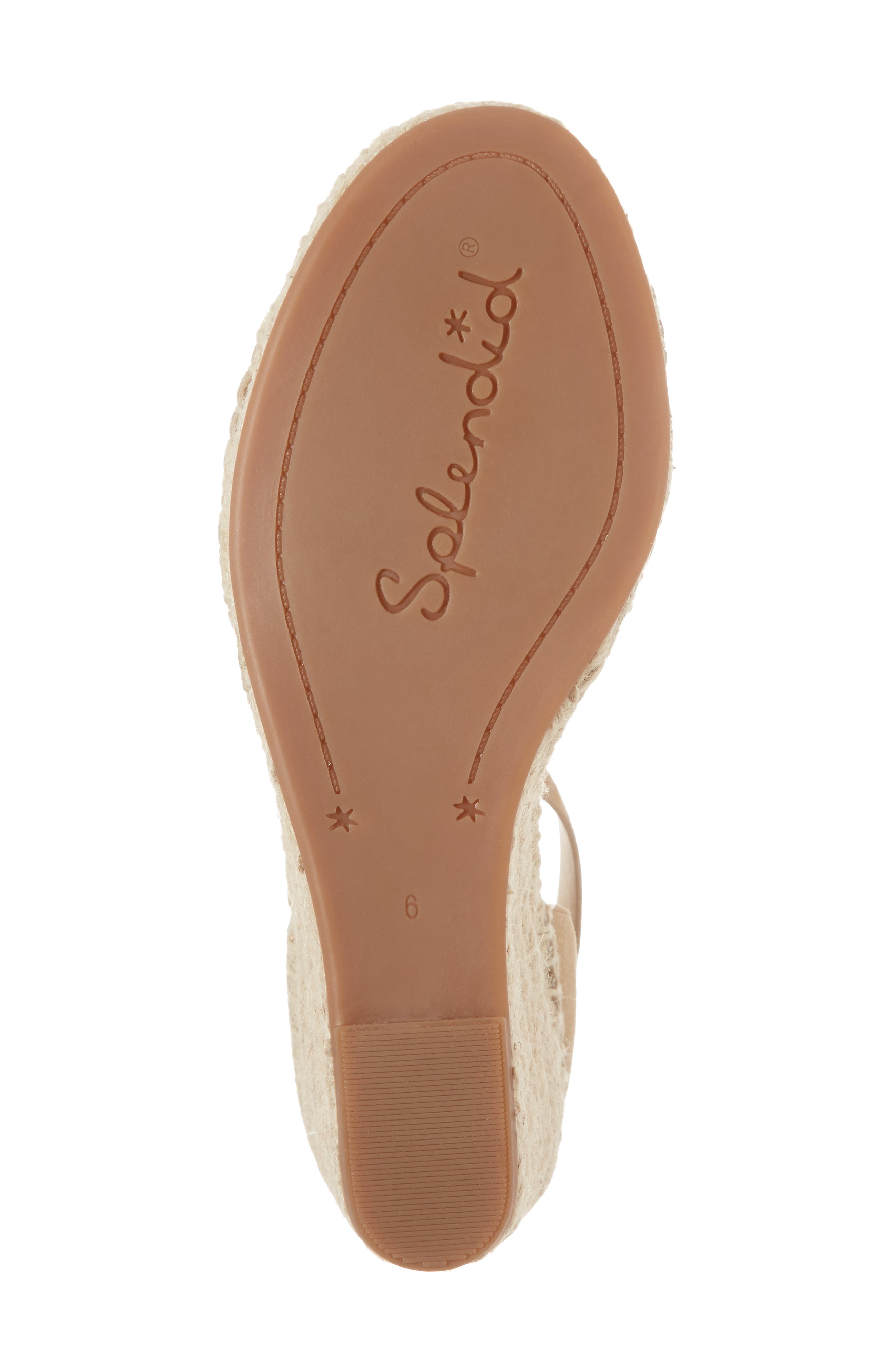 Bedford Espadrille Wedge Sandal,                             Alternate thumbnail 6, color,                             021