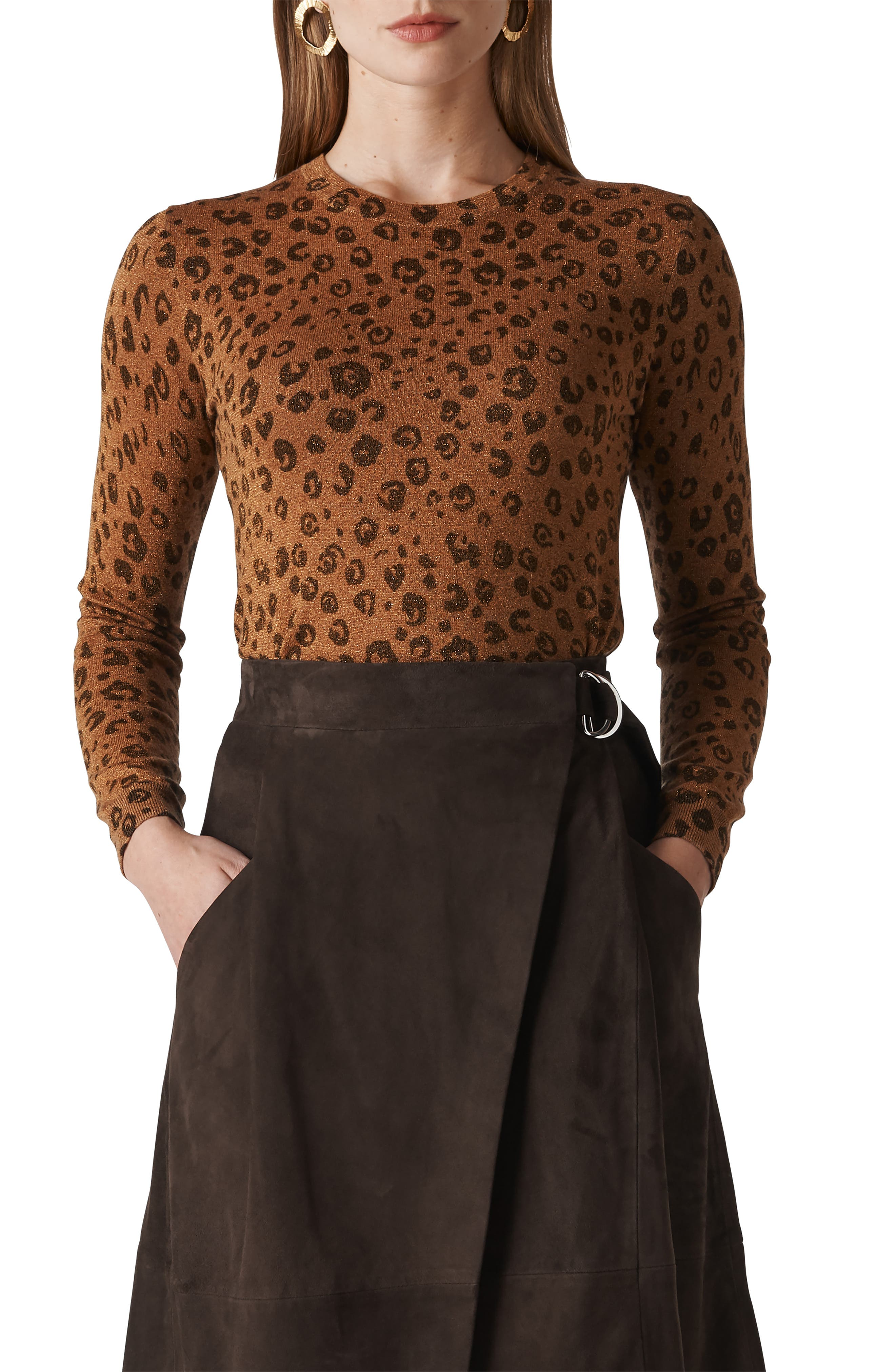 Cheetah Sparkle Sweater,                             Main thumbnail 1, color,                             MULTICOLOUR