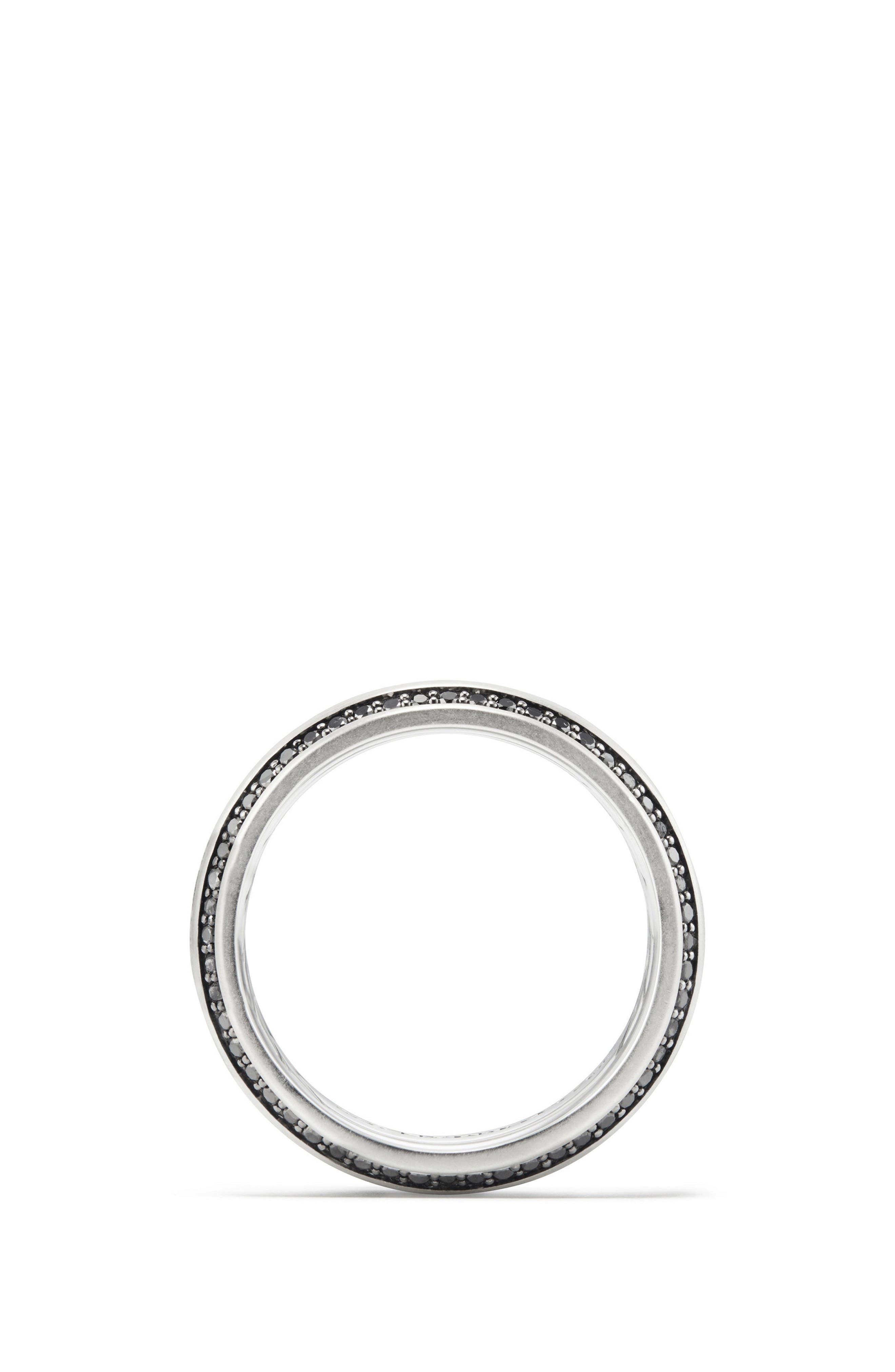 Streamline Beveled Edge Band Ring,                             Alternate thumbnail 2, color,                             BLACK DIAMOND