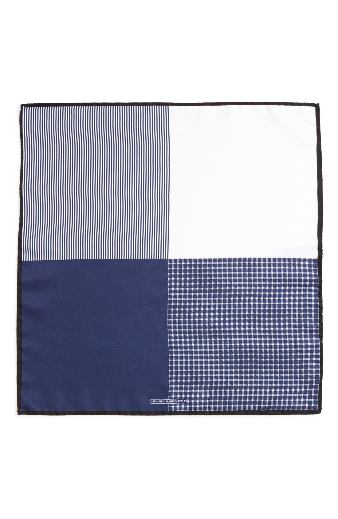 Panel Silk Pocket Square,                             Alternate thumbnail 8, color,
