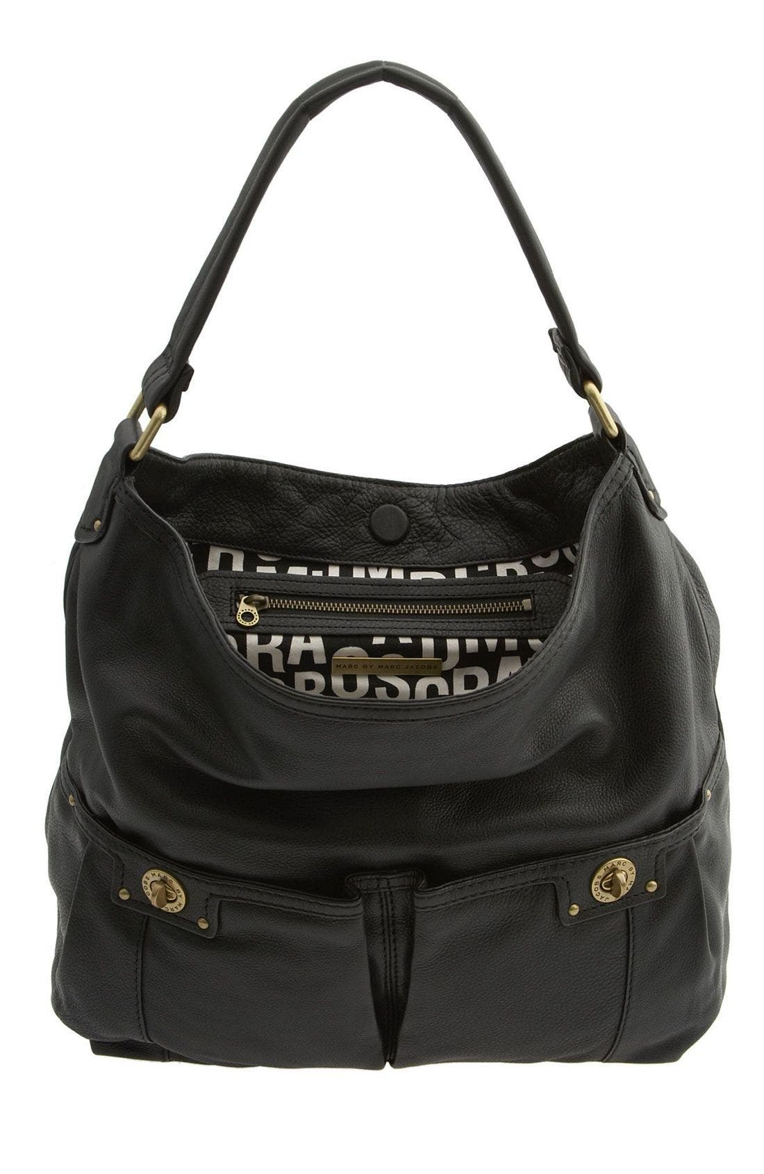 MARC BY MARC JACOBS 'Totally Turnlock - Faridah' Hobo Bag,                             Alternate thumbnail 3, color,                             001