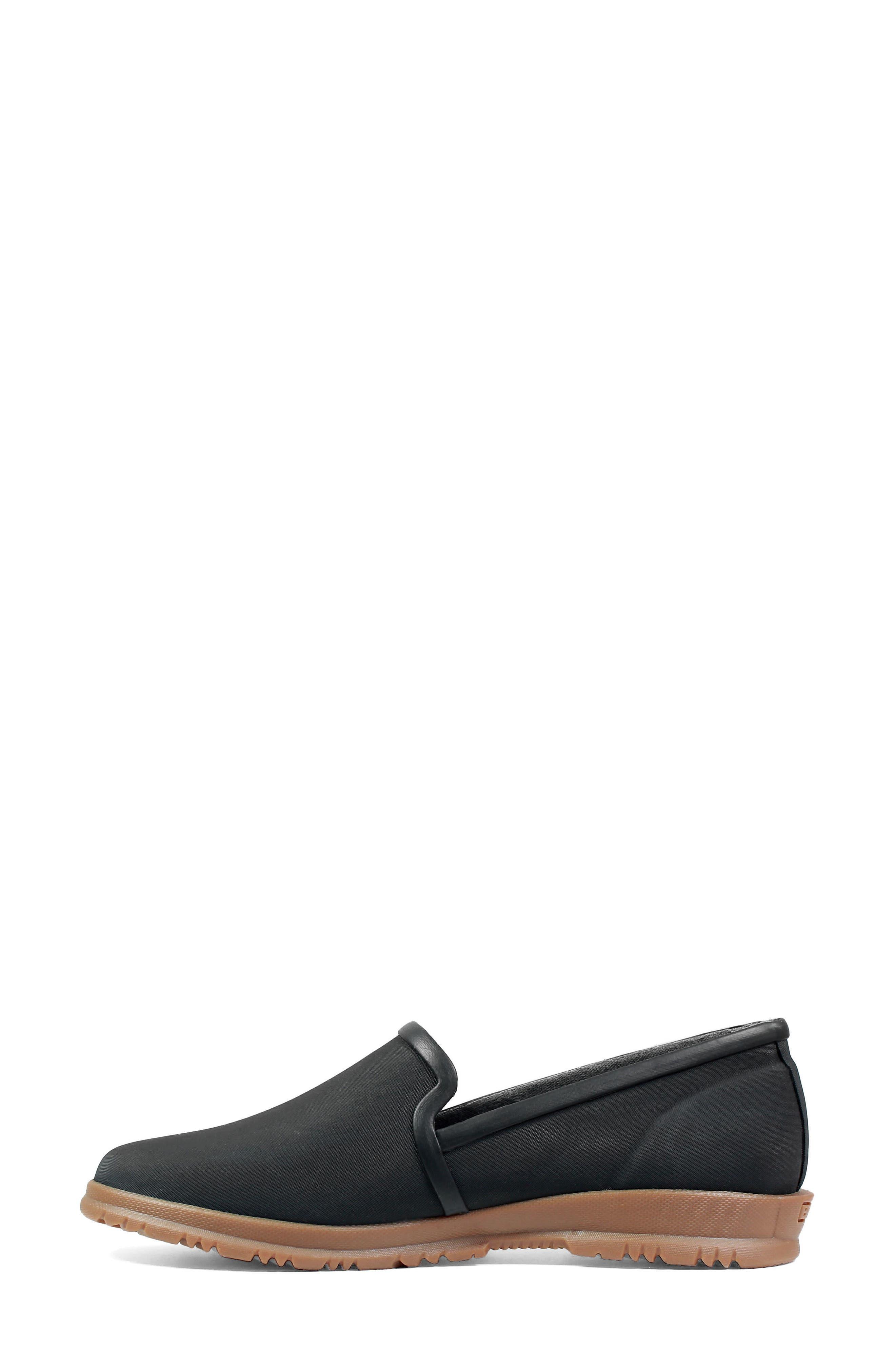 Sweetpea Waterproof Slip-On Sneaker,                             Alternate thumbnail 3, color,                             BLACK FABRIC